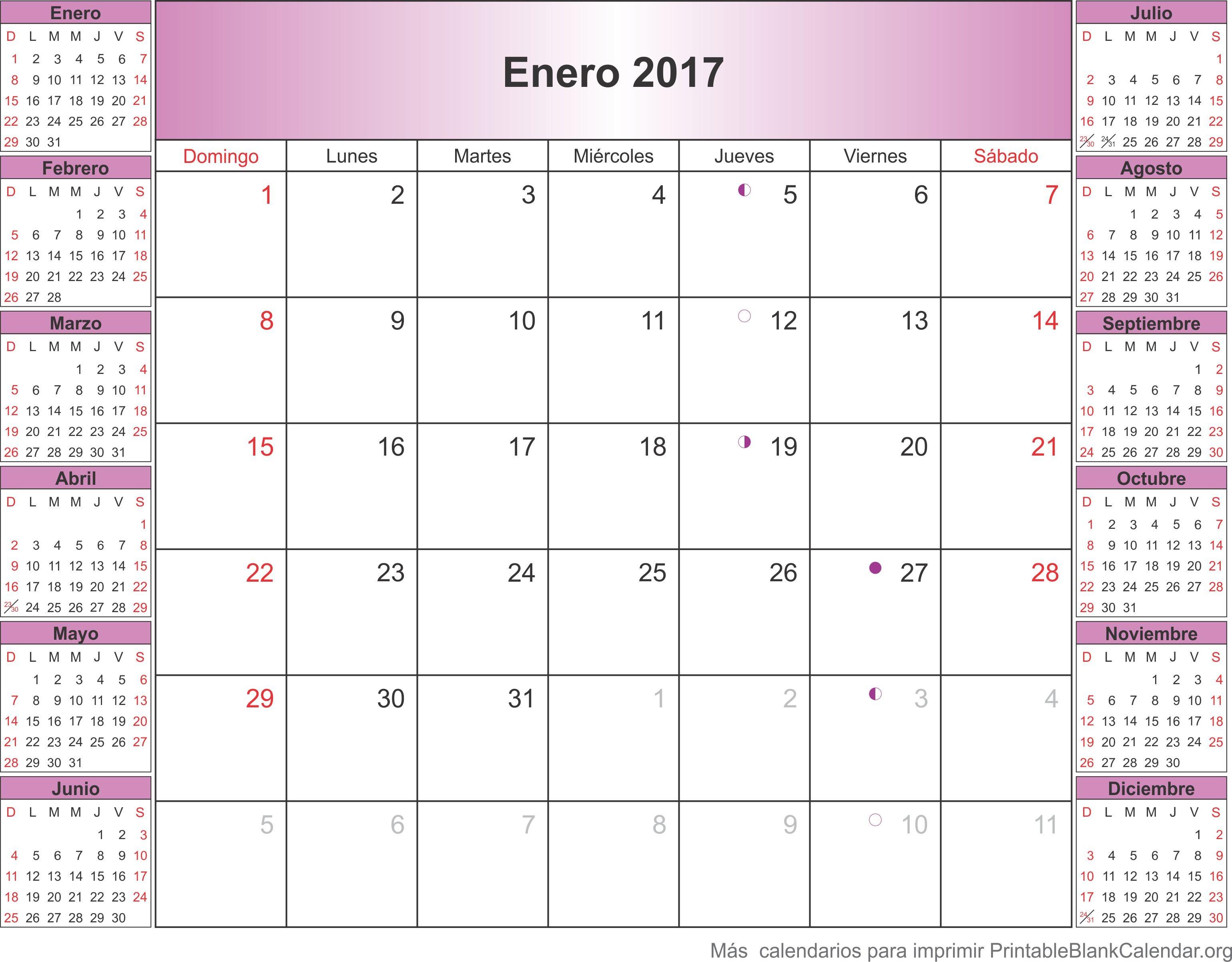Calendario Agenda 2016 Para Imprimir