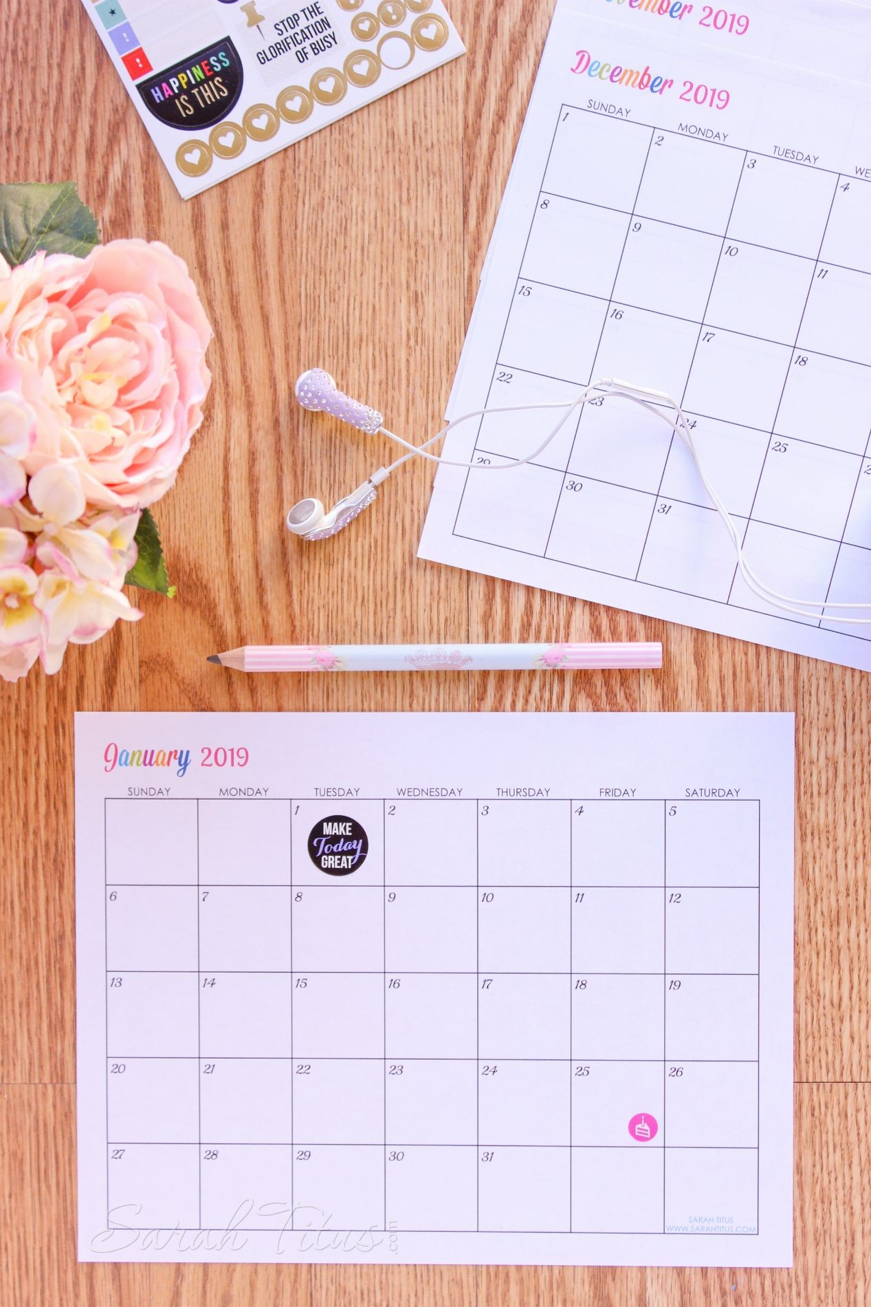 Free Printable 2019 Calendars pletely editable online Use them for menu planning homeschooling blogging or just to organize your life