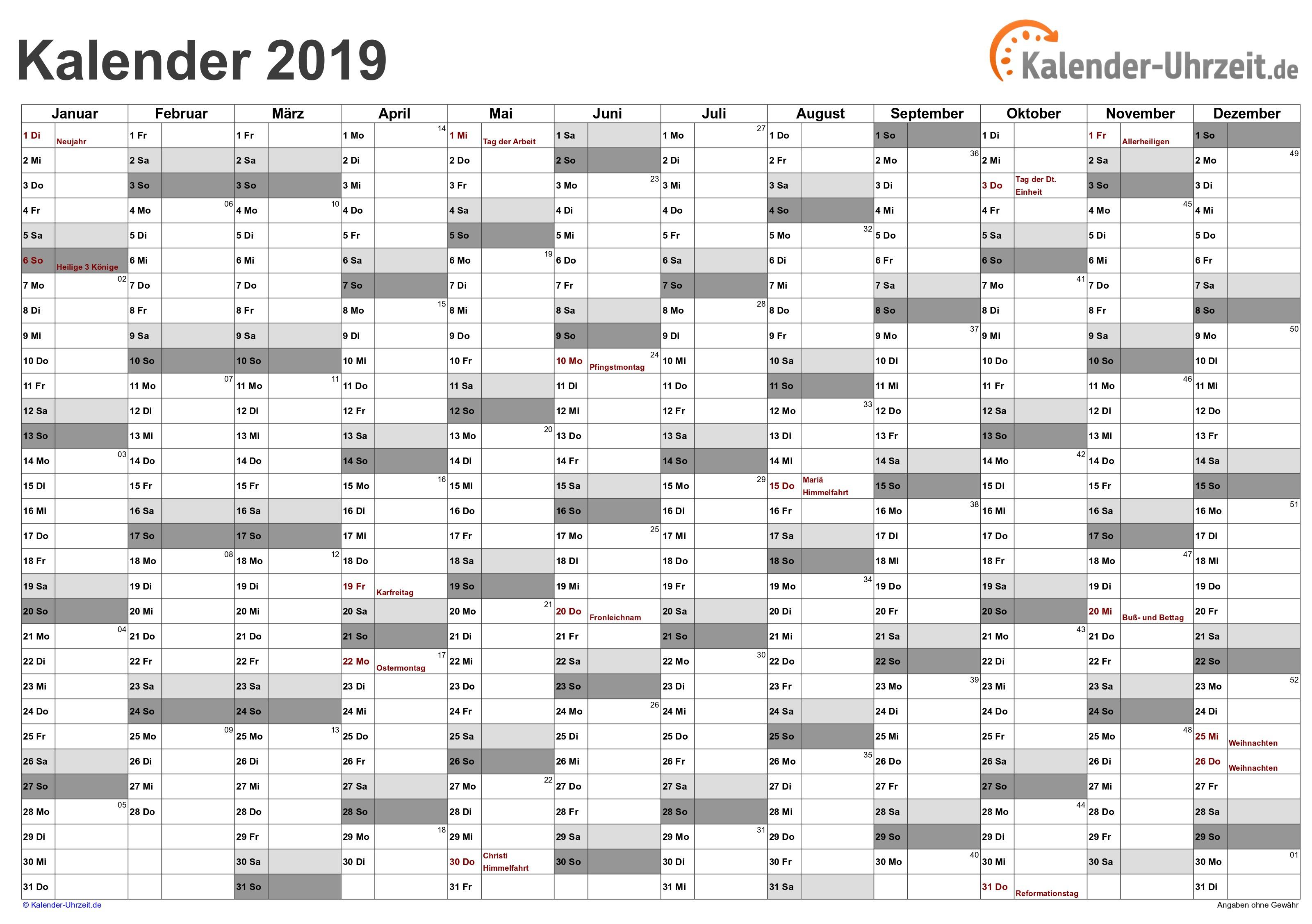 Kalender 2019 In Excel Einfügen Más Recientes Excel Kalender 2019 Kostenlos