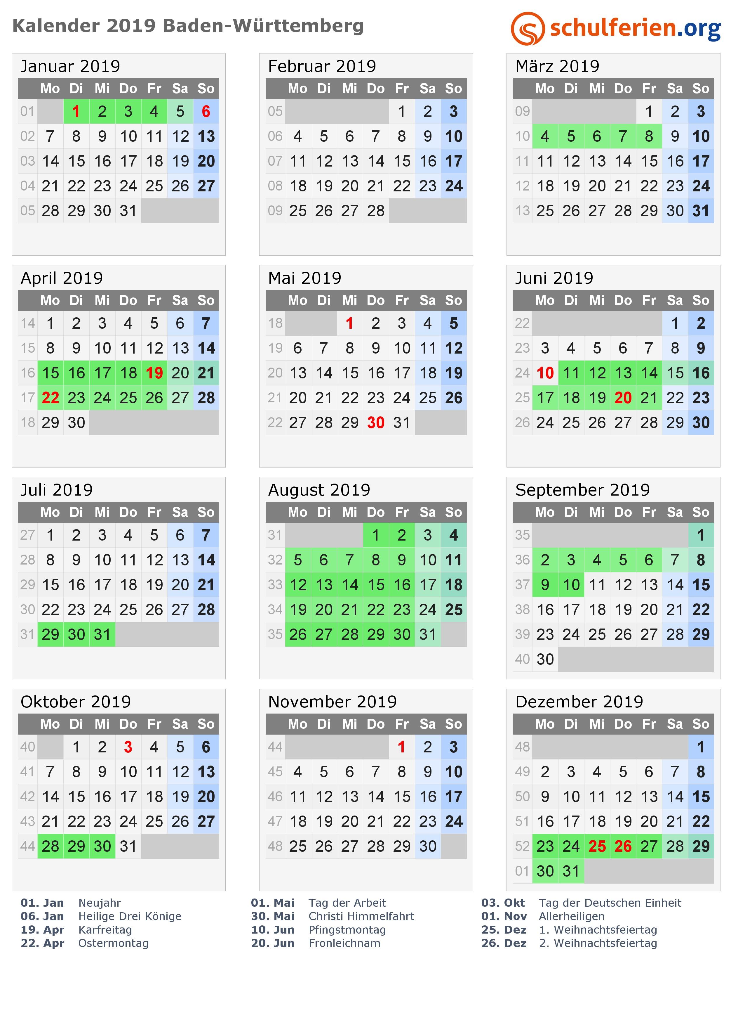 Kalender 2019 Pdf Baden Württemberg Más Recientes Kalender 2019 Ferien Baden Württemberg Feiertage Of Kalender 2019 Pdf Baden Württemberg Actual Kalender 2019 Nrw Ausdrucken Ferien Feiertage Excel