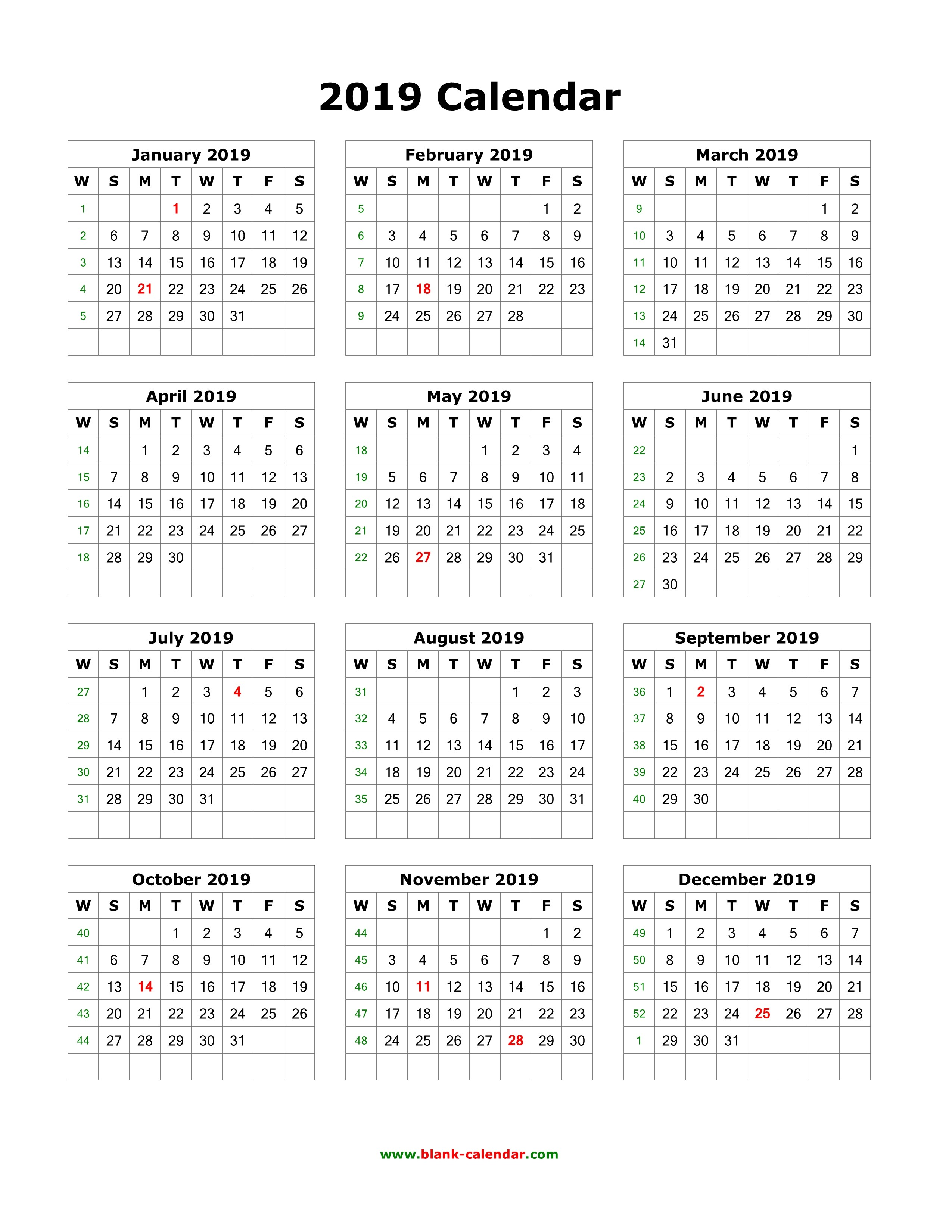 Kalender 2019 Book With Calendar Vertical Printable Coloring Page For Kids