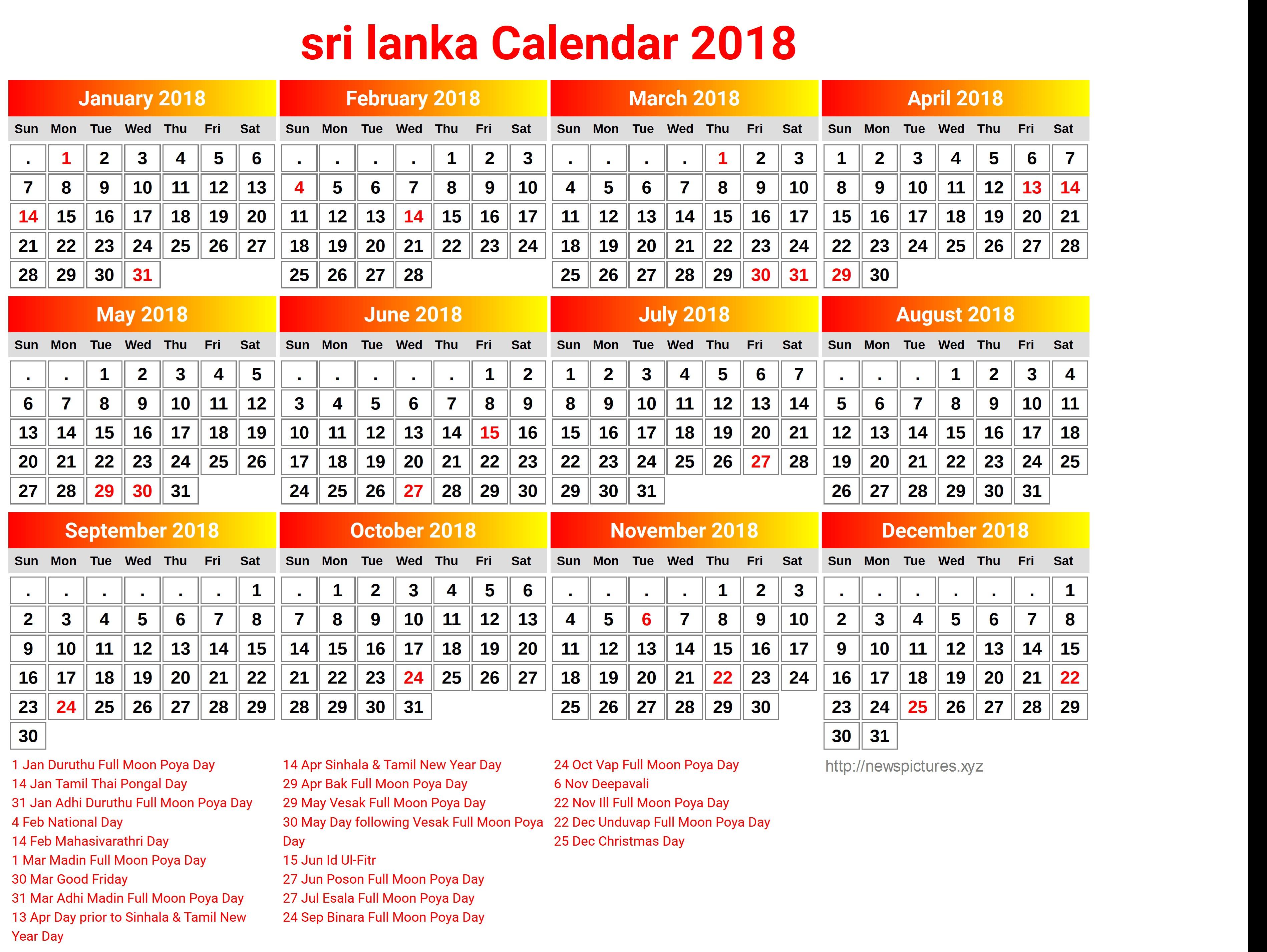 Calender sri lanka with calendar public holidays 3797x2855 Printable maldives 2018 calendar indonesia newspictures