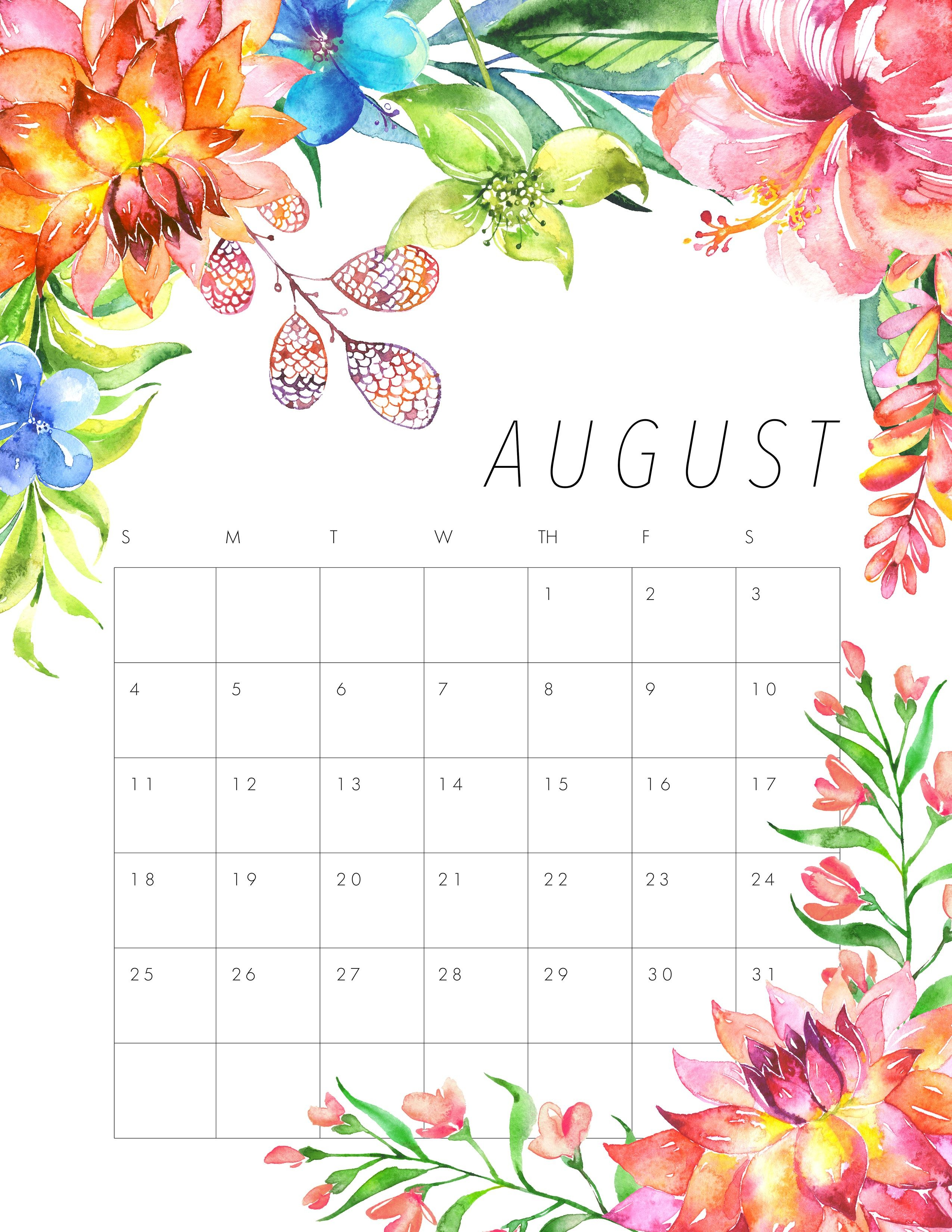 Calendar Wallpaper 2017 August Wallpaper 2018 Printable Calendar Family Calendar August Month