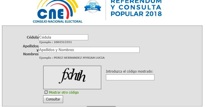 cne lugar de votacion 2017 donde votar