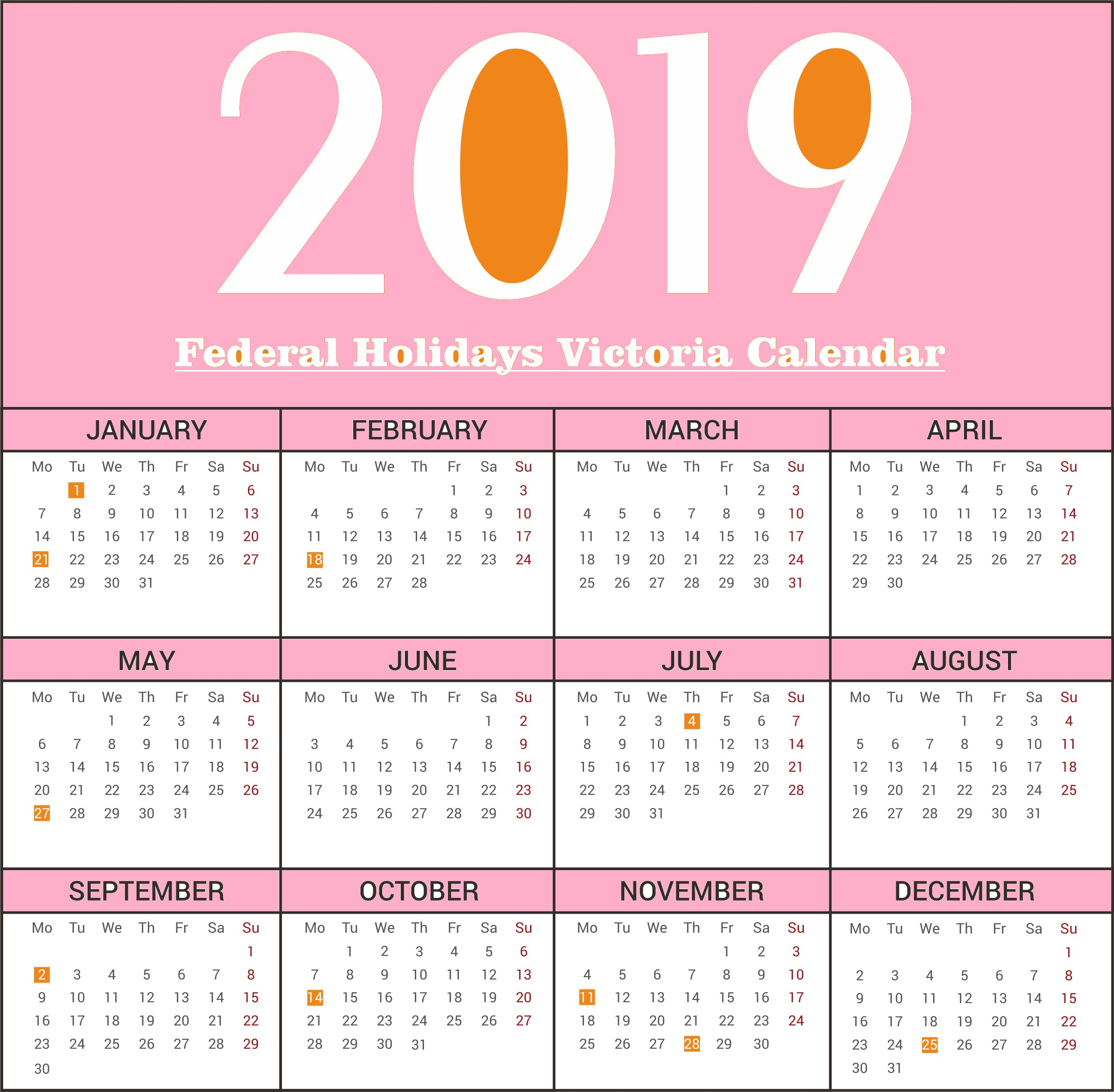 2019 Australian Calendar In Excel Más Caliente 2019 Calendar Victoria Printable Of 2019 Australian Calendar In Excel Más Recientemente Liberado Excel Calendar Template 2018 Glendale Munity Document Template