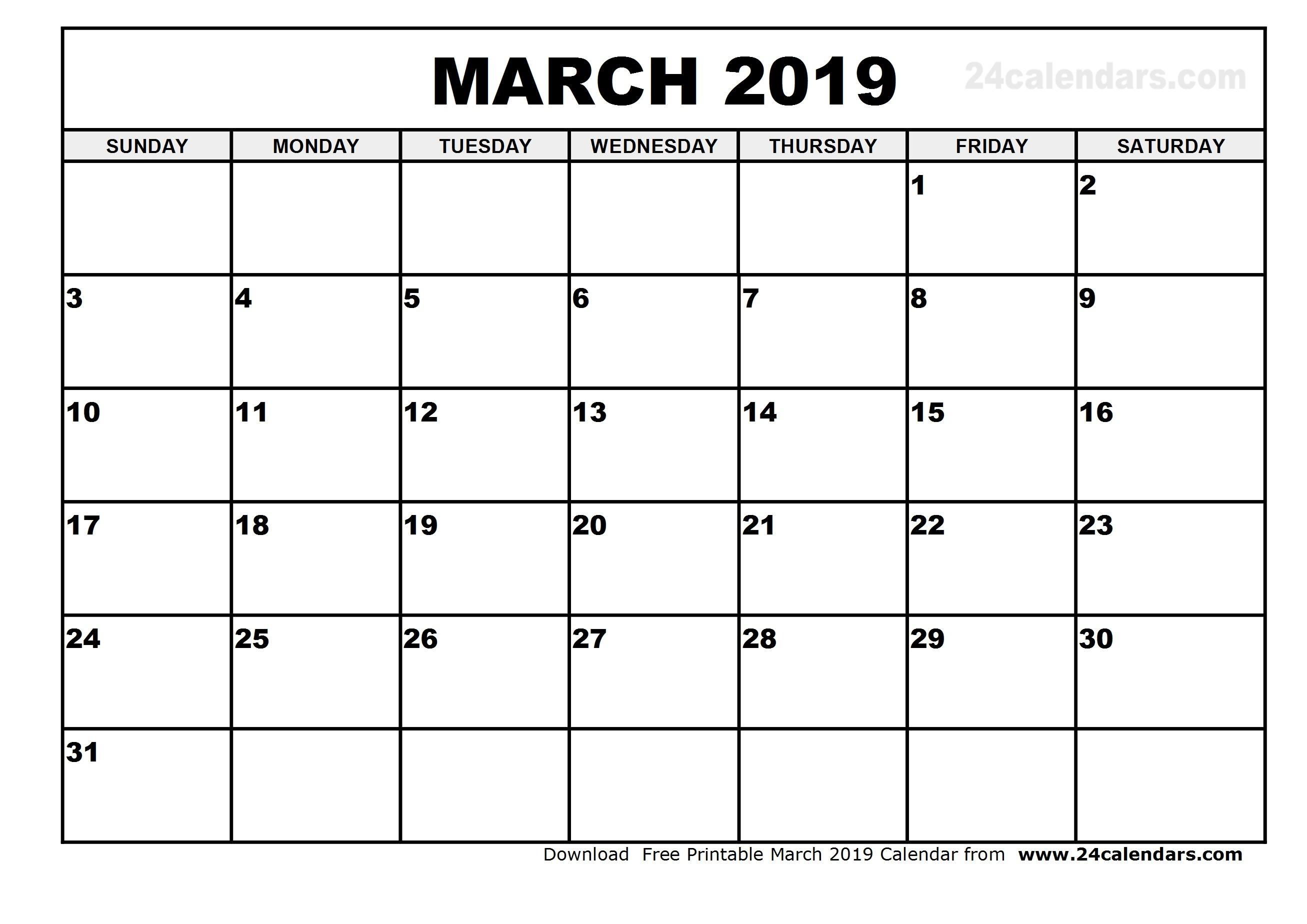 2019 Calendar Vertex With Best Printable Template Free