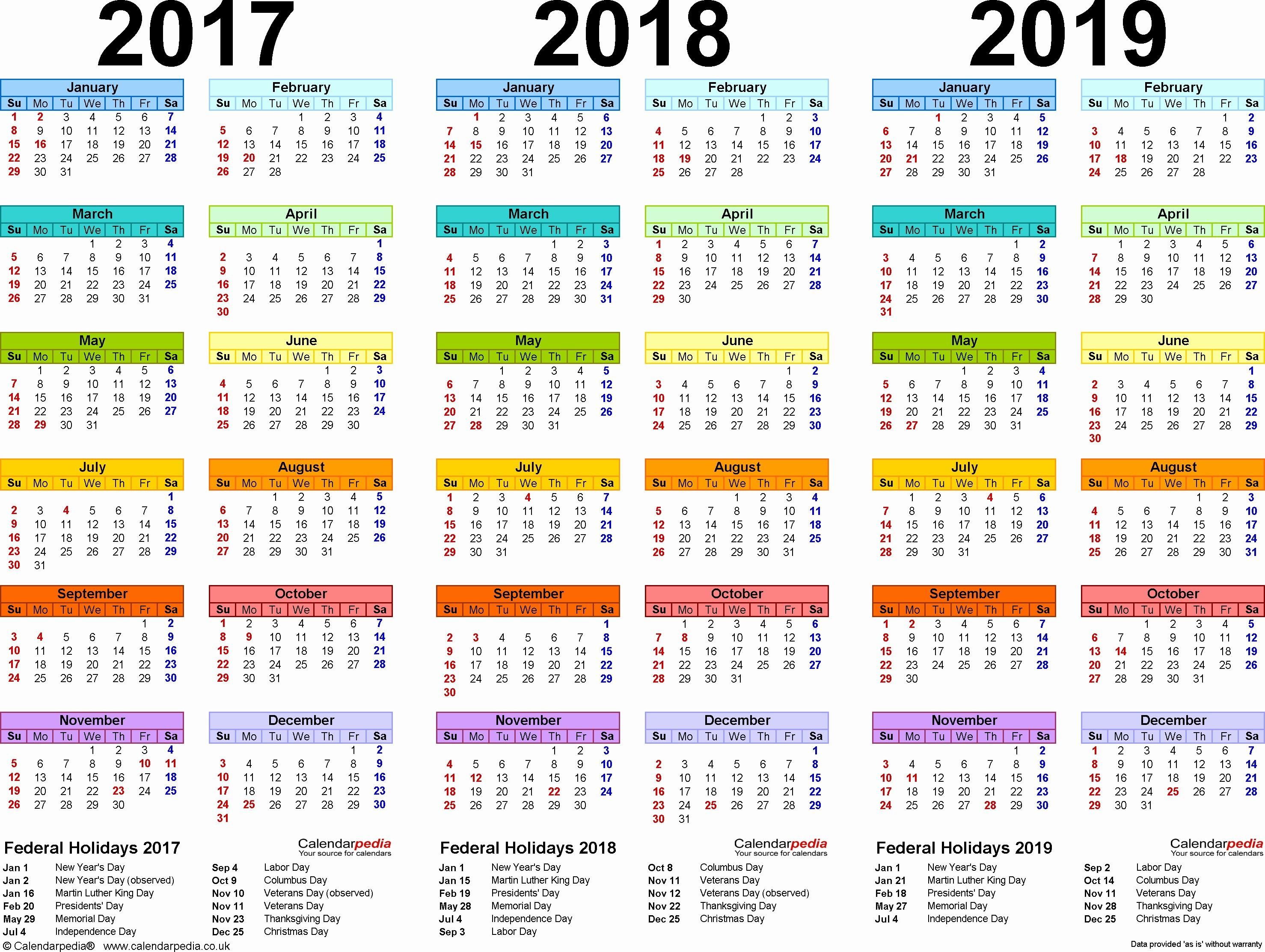 Fresh 5 Examples Calendar Template 2019 Excel