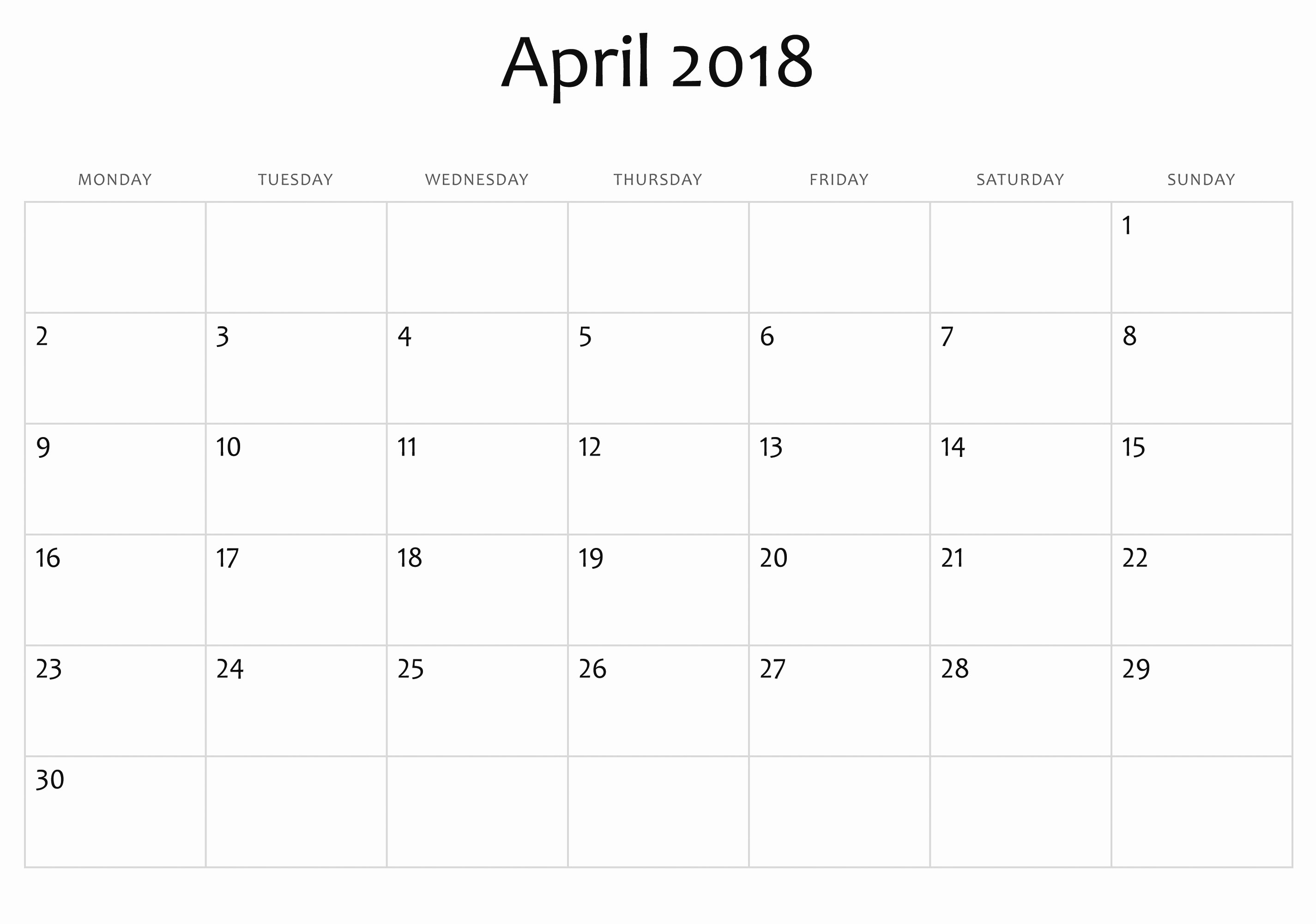 February Calendar Printable Luxury Monthly Calendar Template Fresh 2018 Printable Calendar Month Od