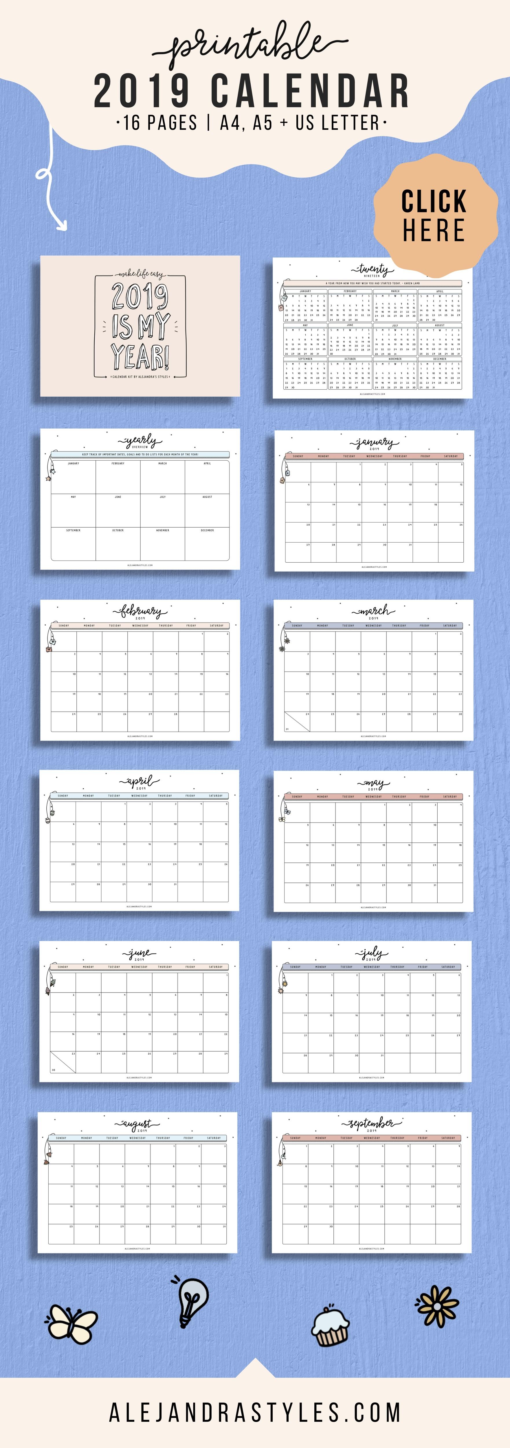 Calendar 2019 to Download Mejores Y Más Novedosos 2019 Calendar Printable Planner for Desk or Wall Of Calendar 2019 to Download Actual Calendar Template Google Sheets 2019