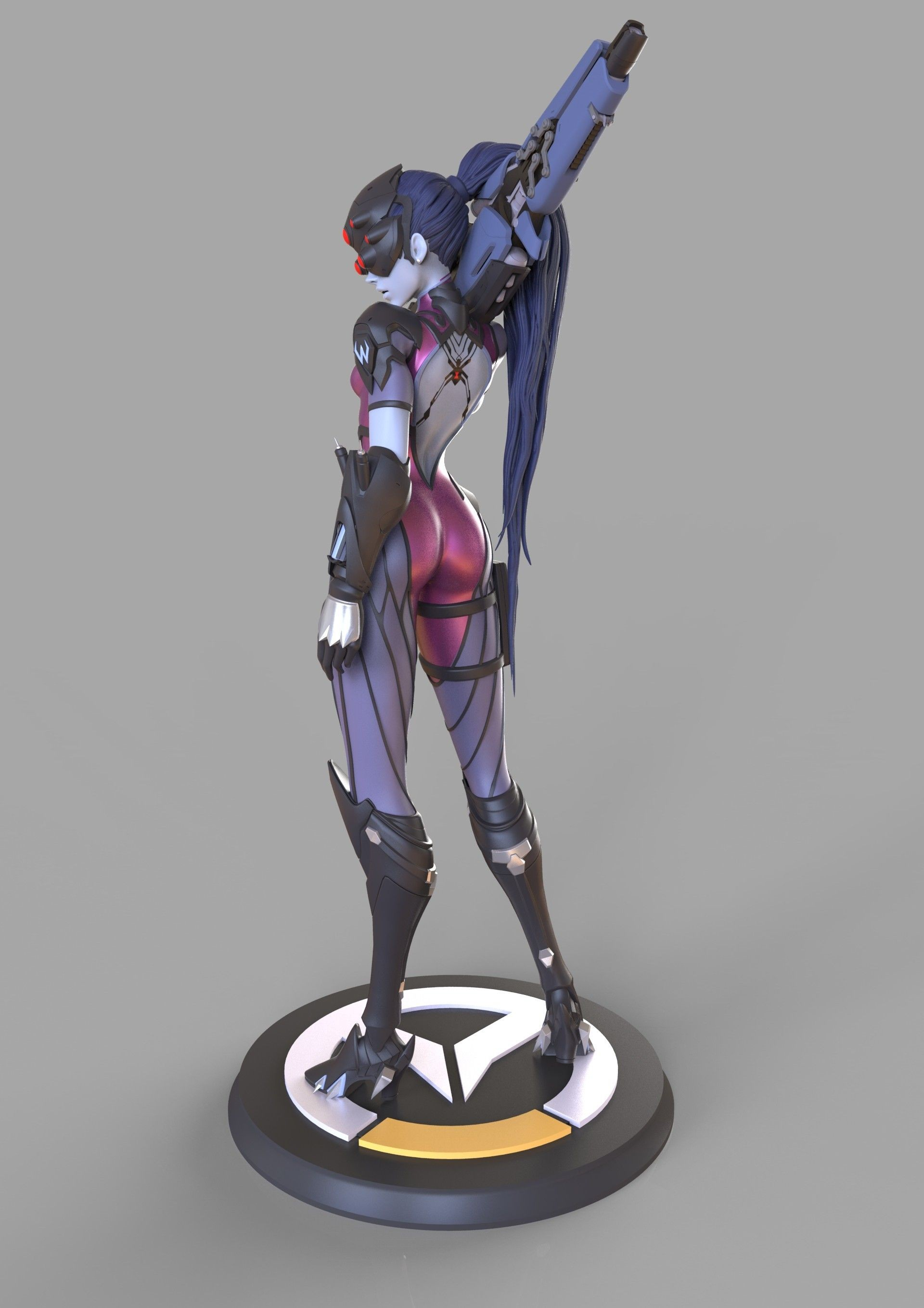 ArtStation Widowmaker Overwatch figure preview Caizergues Noel