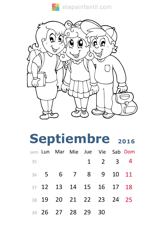 Calendario de 2016 para imprimir y colorear Etapa Infantil Hermoso Imagenes Para Colorear De La Familia Rural
