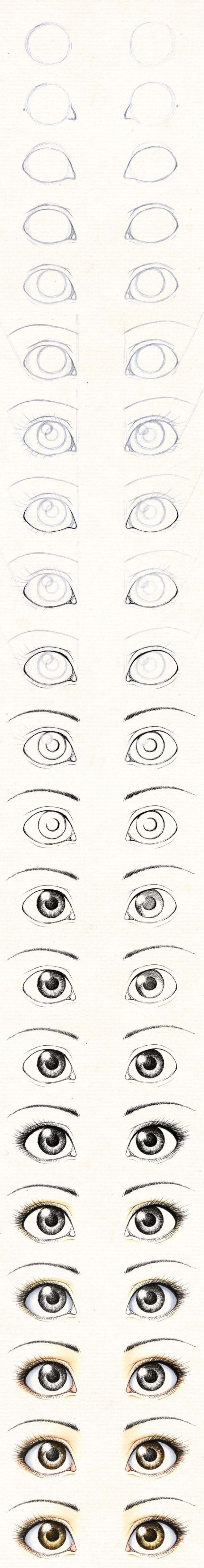 Gua para aprender a dibujar los ojos de las mu±ecas
