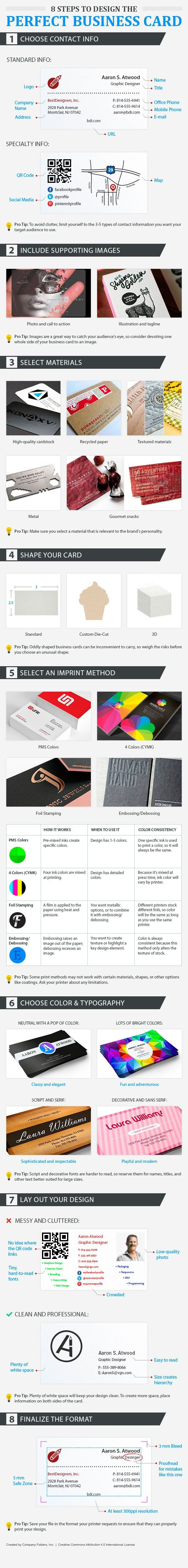Infographic Tips To Design The Perfect Business Card