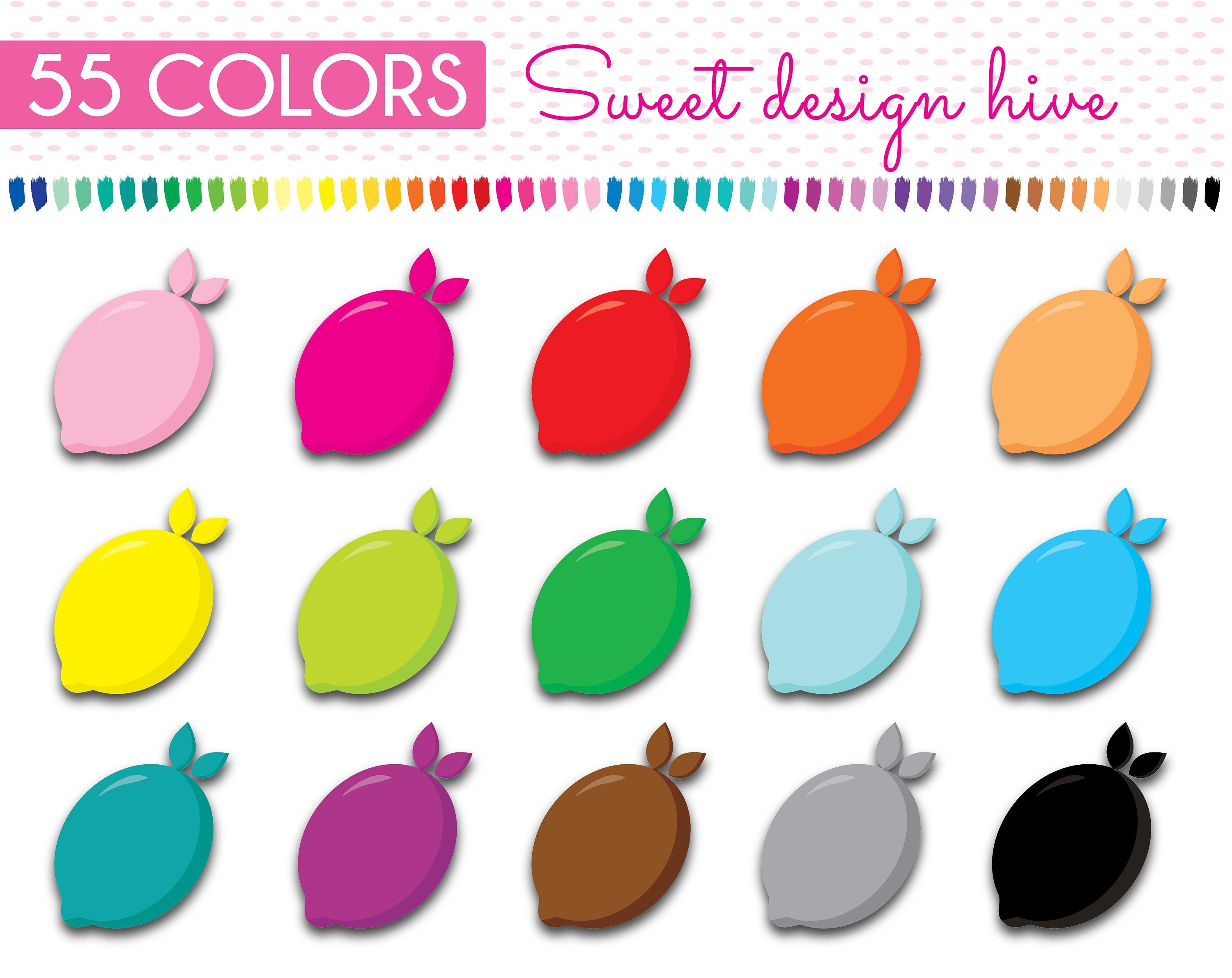 Lemon Clipart Lemon Stickers rainbow Lemon stickers Planner Stickers mercial Use