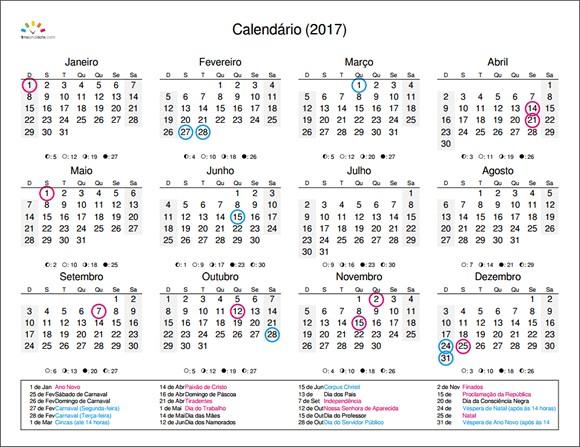 Calendário 2017 Para Imprimir Com Anotações Más Caliente Crie Um Calendário De 2017 Para Impressão