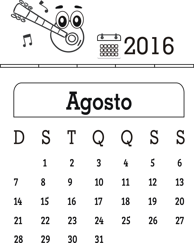 calendários musicais 2016 para colorir musiqueducando