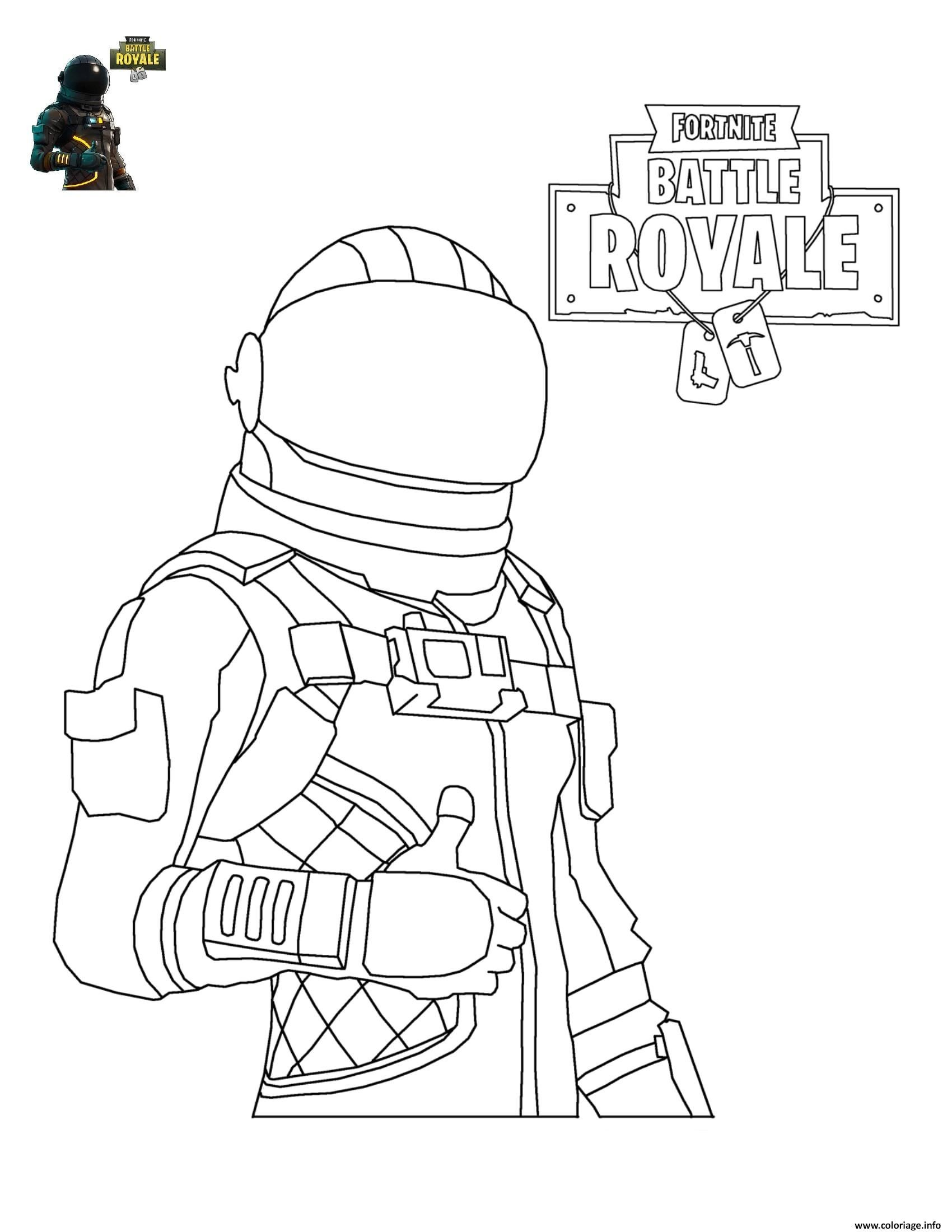 Coloriage Fortnite Battle Royale personnage 4  imprimer