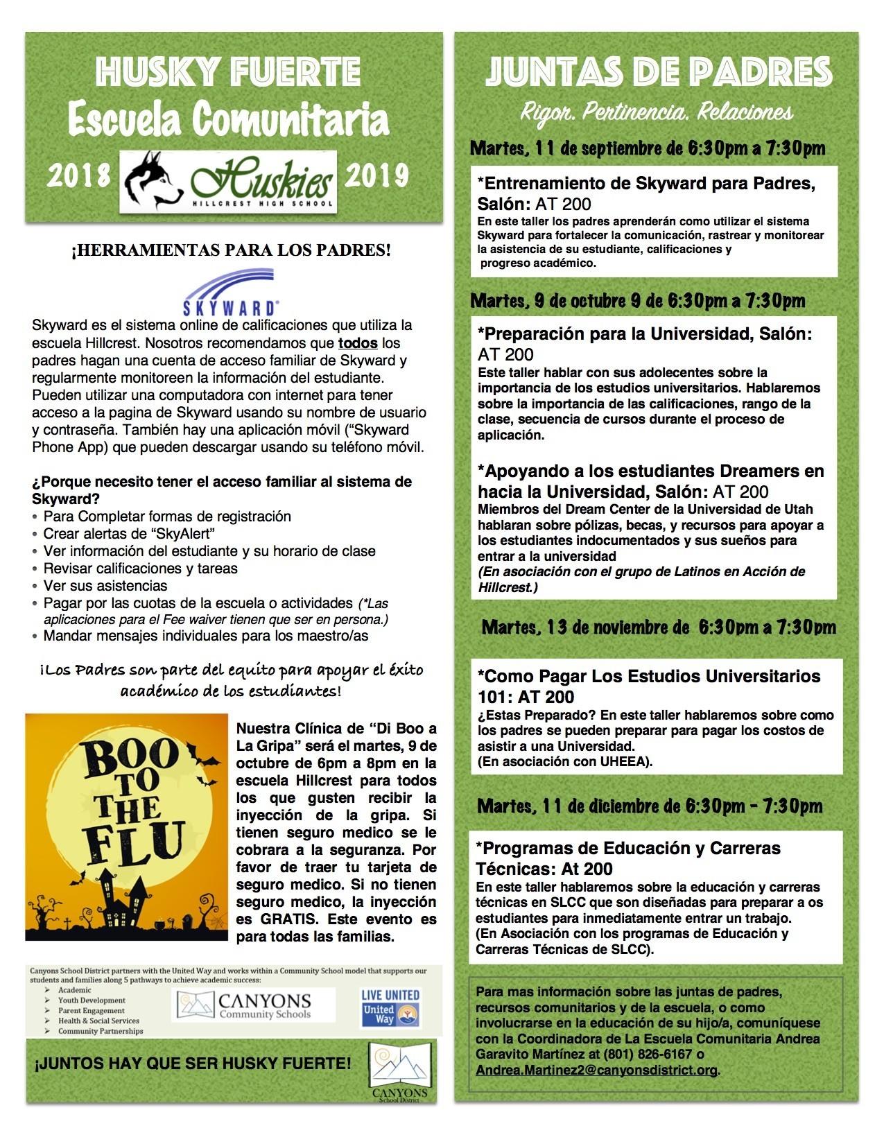 Hillcrest High School Home Página Principal de calendario 2019 y 2020 udg crédito de la imagen hhsnyonsdistrict