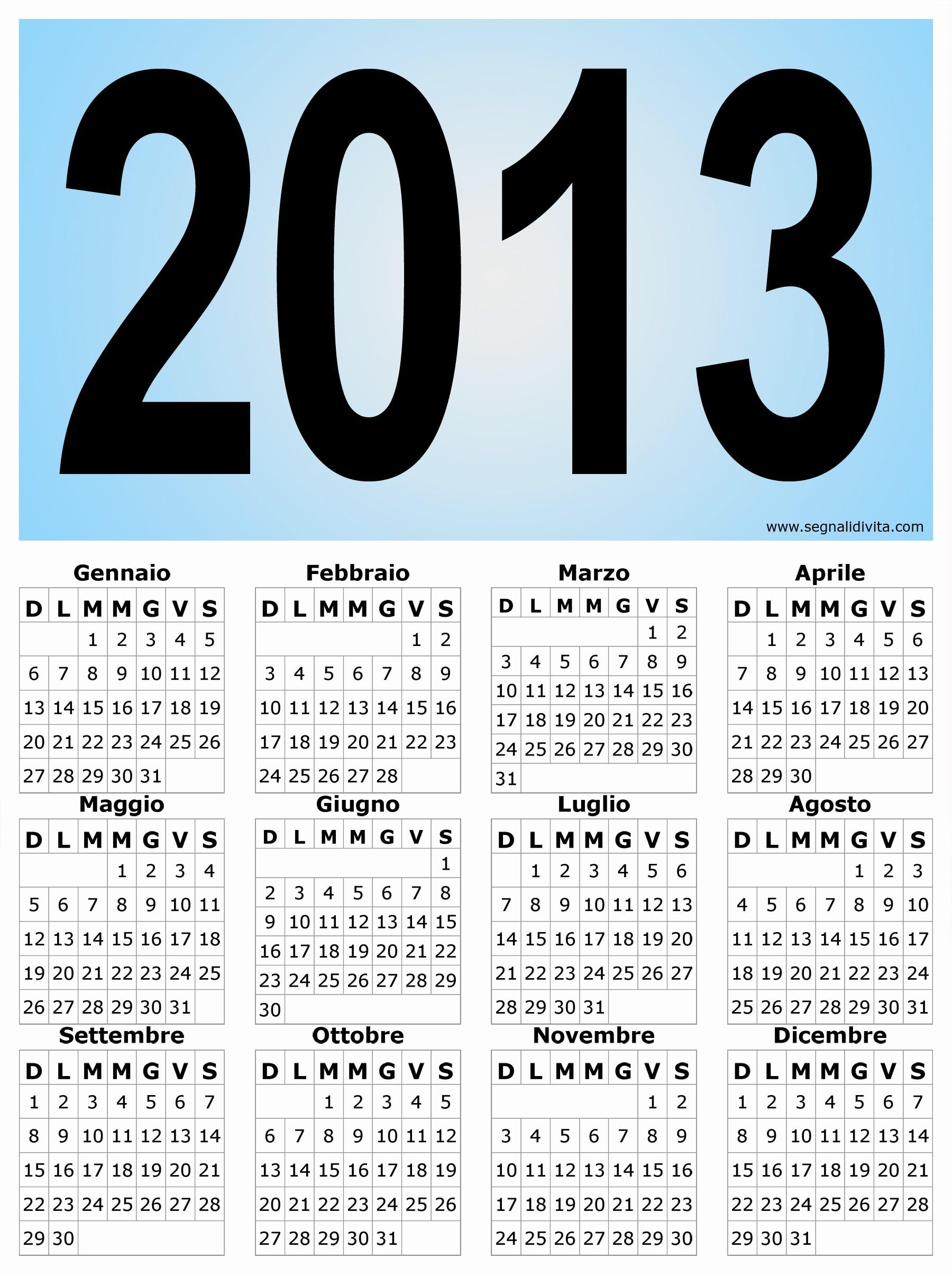 1997 Calendario 2019 Calendario Verticale Grafico Del 2013