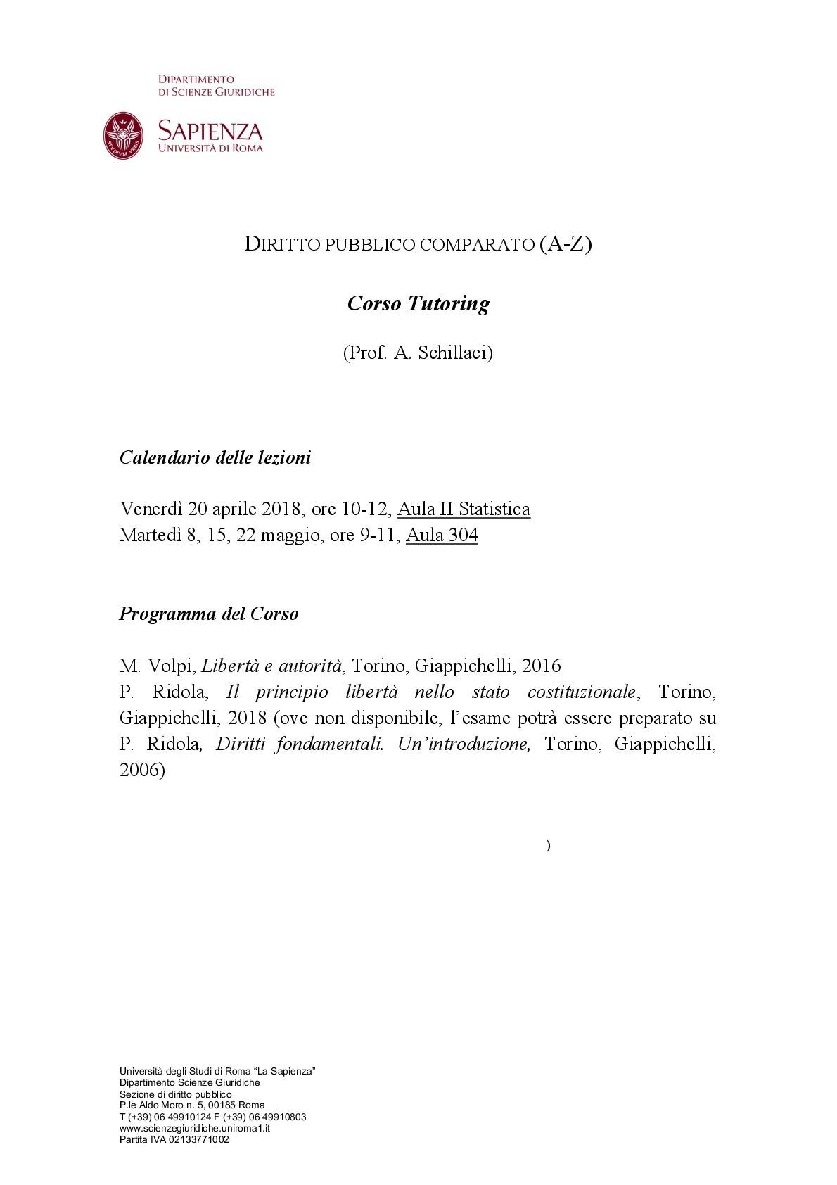 Schillaci DirittoPubblico parato 001