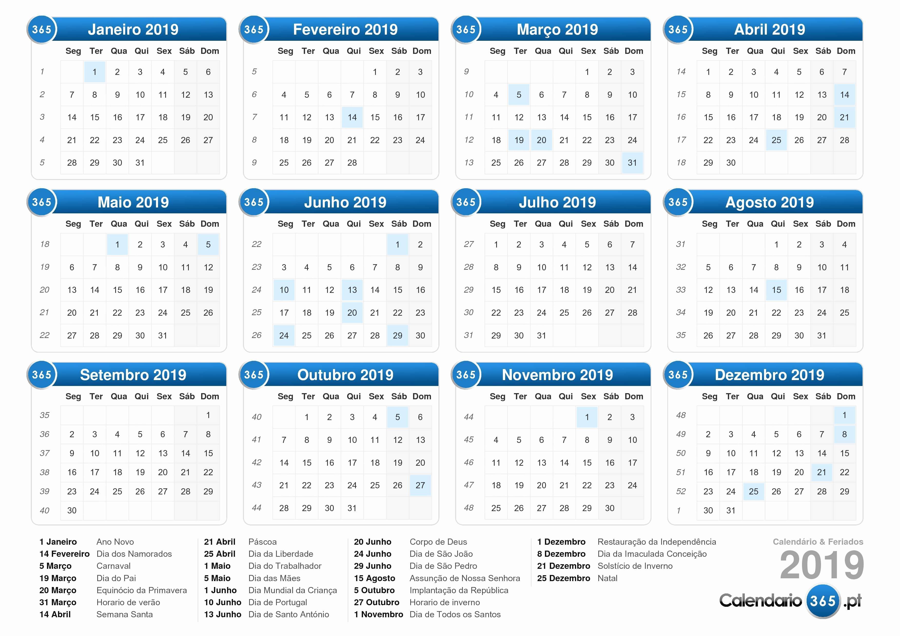 Calendario Dr 2019 Calendario 2019