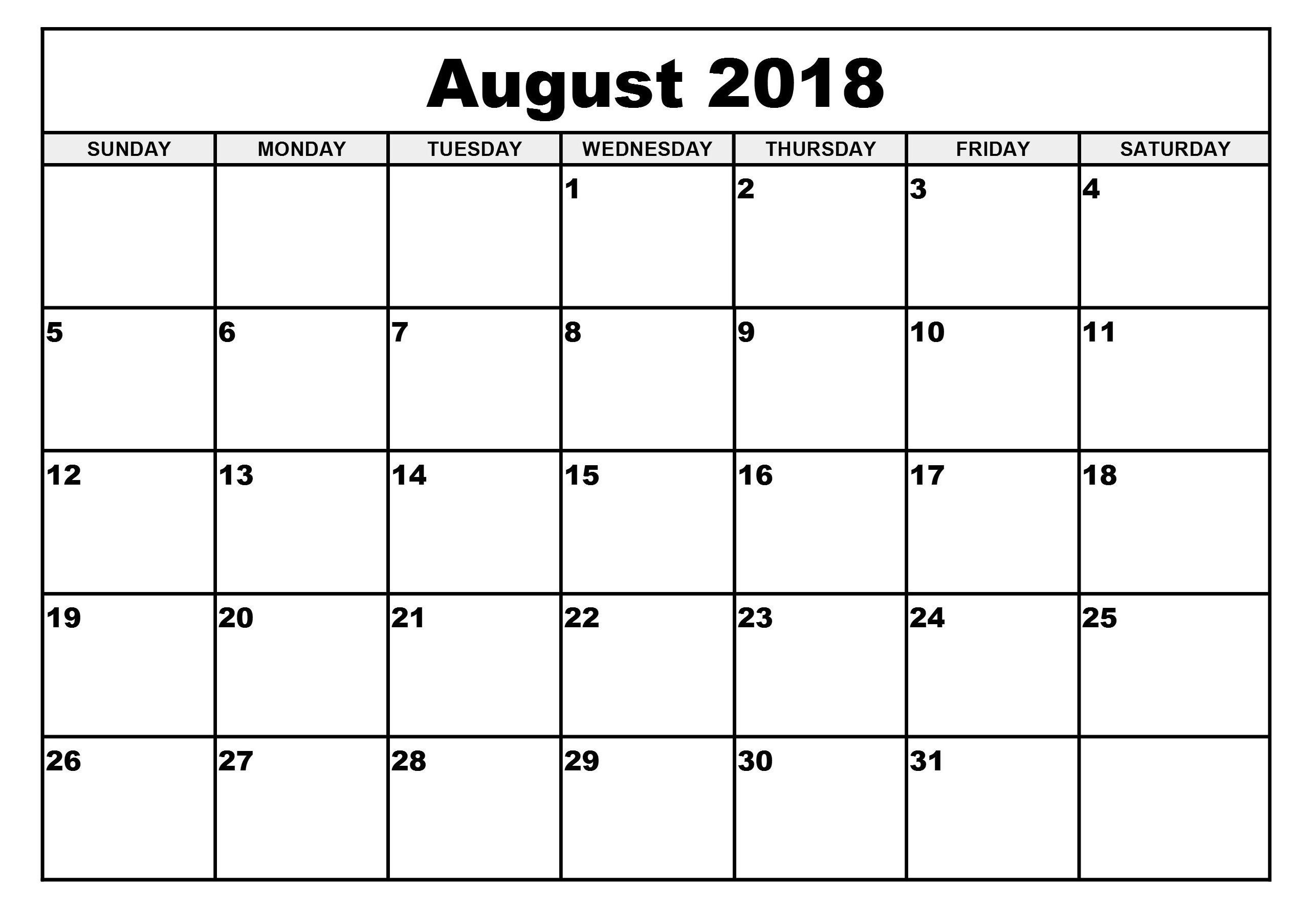 September 2018 Calendar Printable Wincalendar The Audi Car