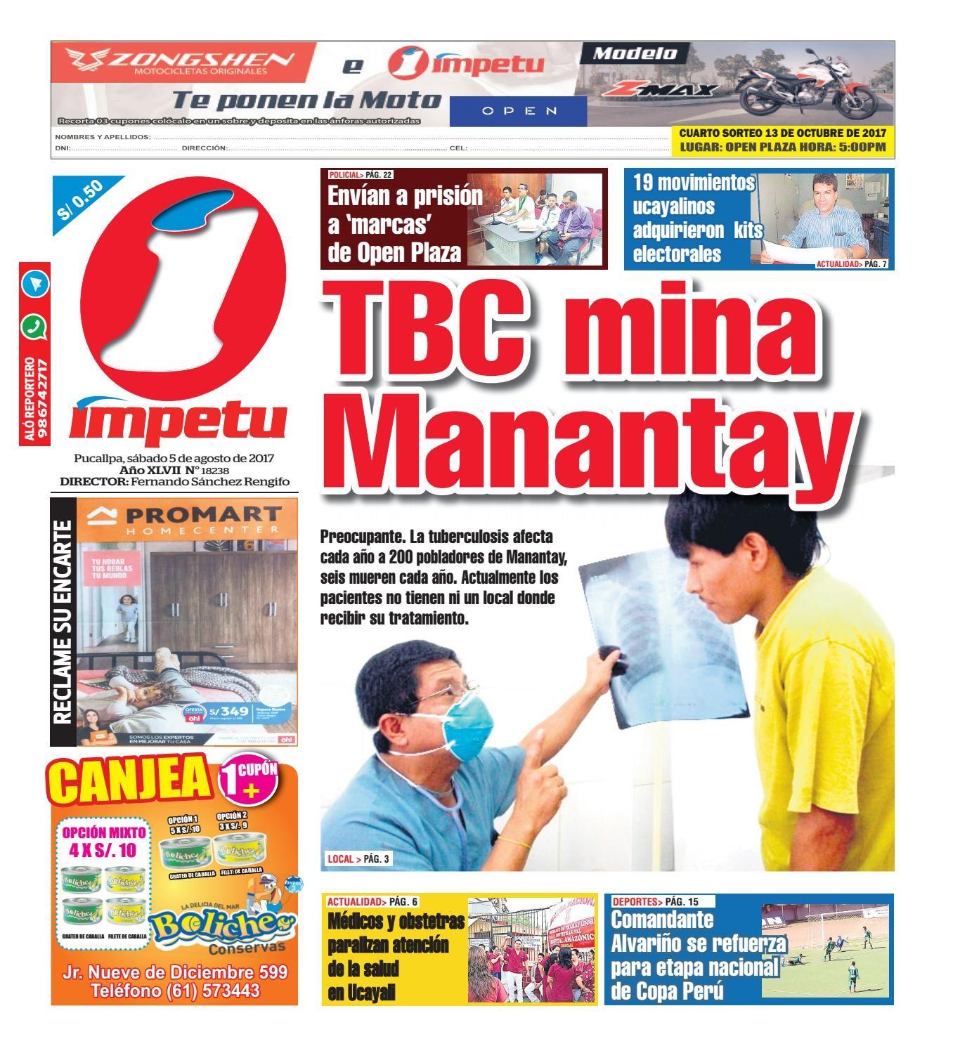Impetu 05 de agosto de 2017 by Diario mpetu issuu