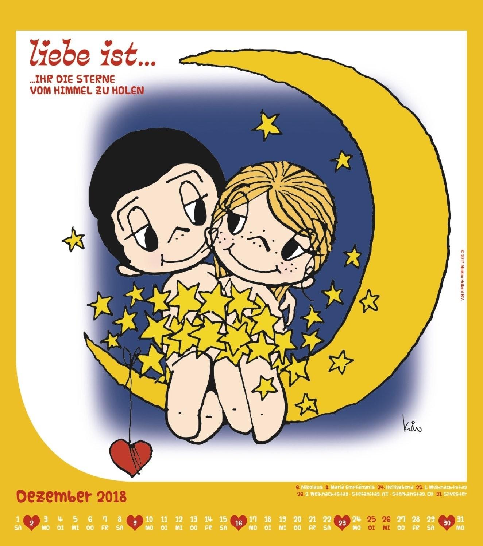 Calendario 2018 Liebe ist 2018 Wandkalender Livros Na Amazon Brasil
