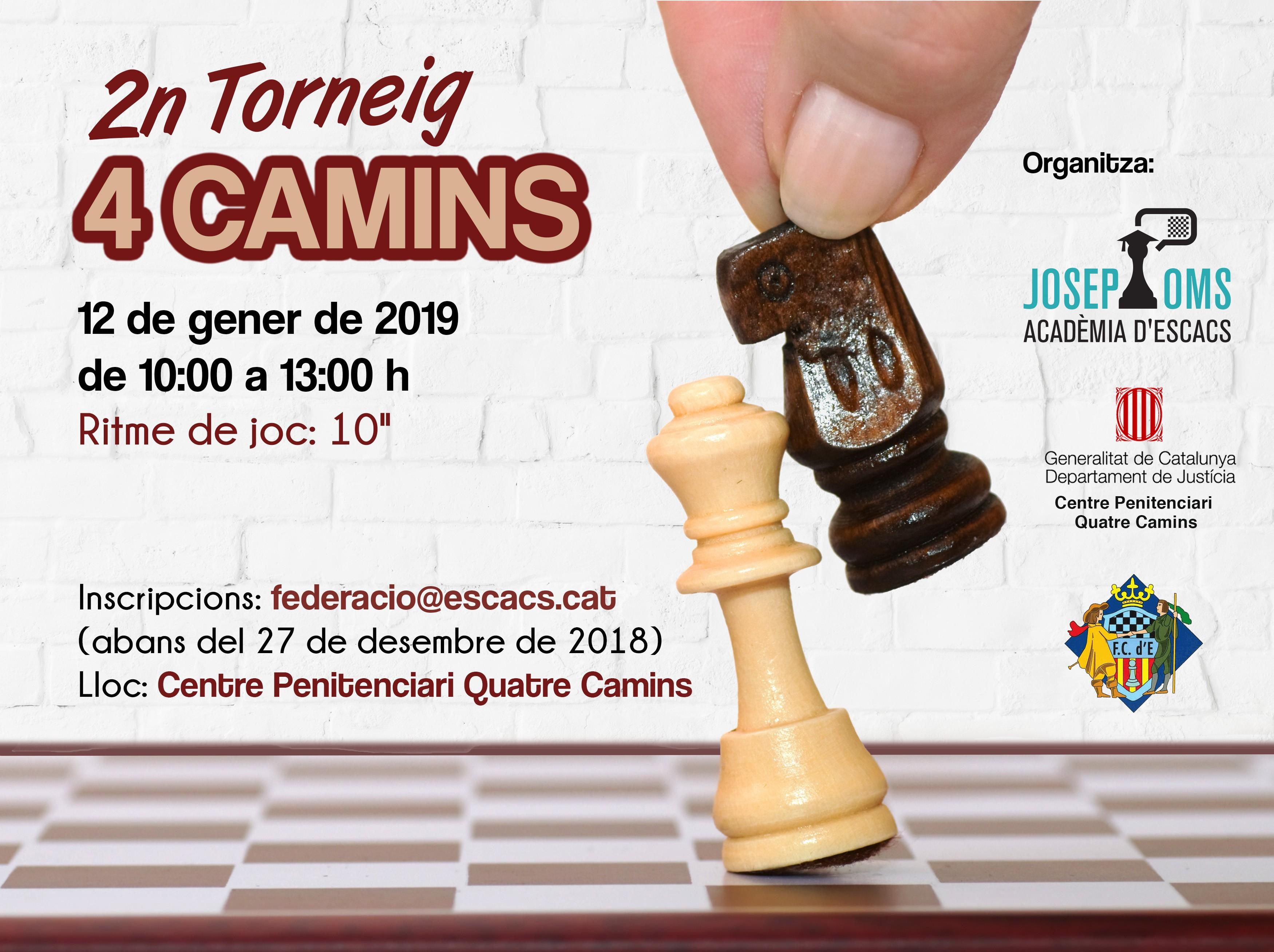 L organitzaci³ corre a crrec del Departament de Justicia de la Generalitat de Catalunya i de l Acad¨mia d escacs Josep Oms