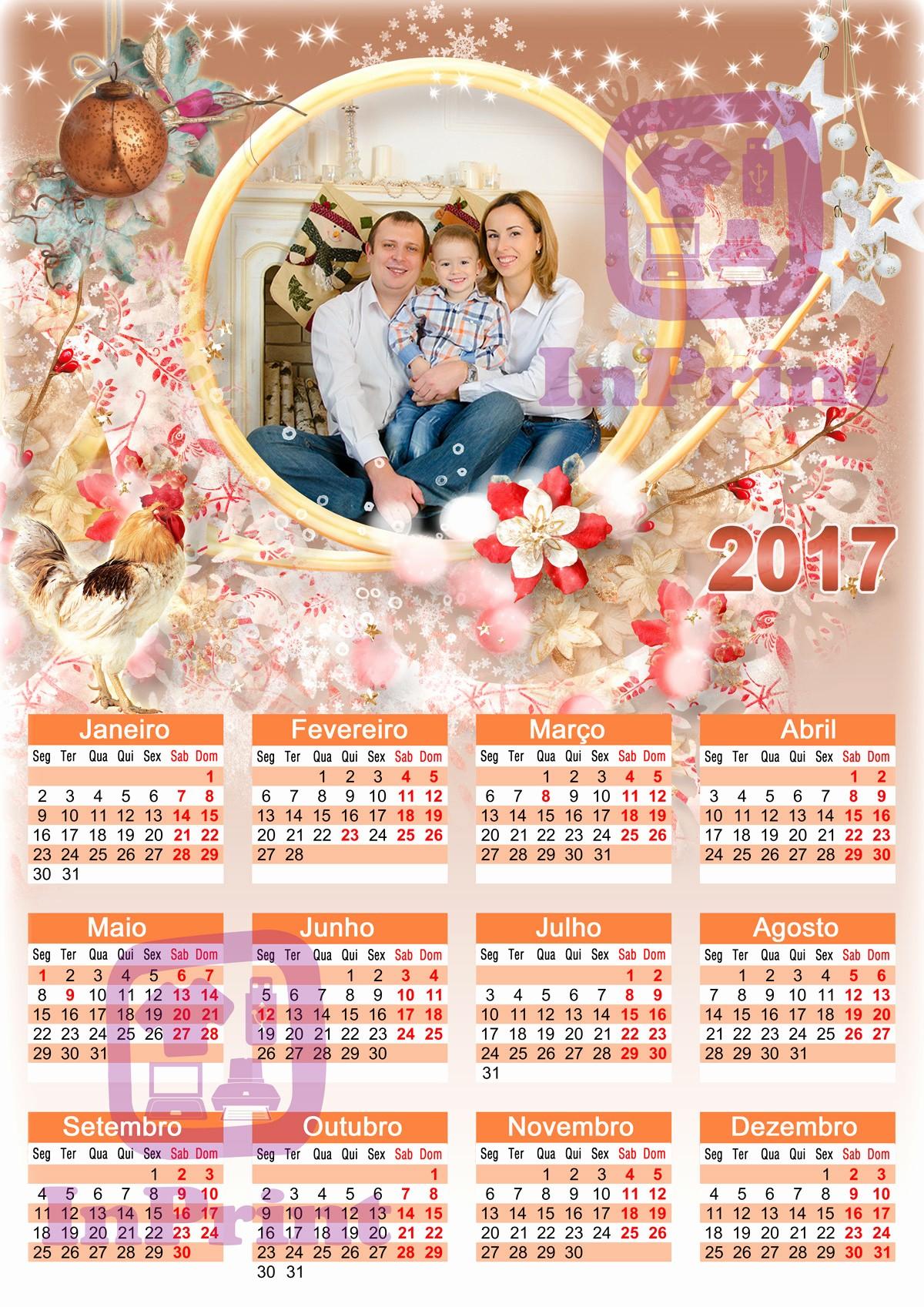 Calendário 2019 Personalizado Para Imprimir 11 Calendarios 2017 Para