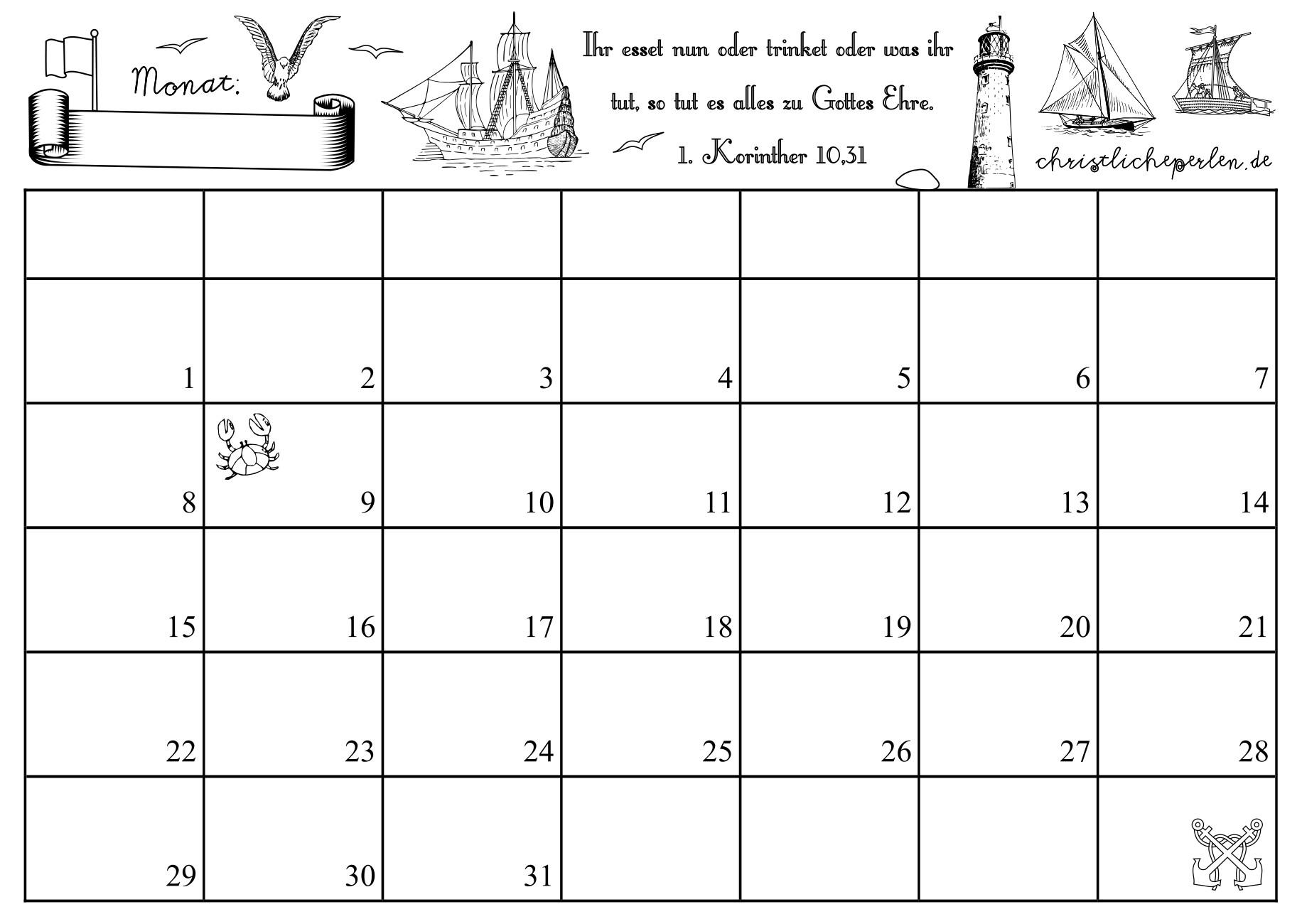 Kalender Christliche Perlen