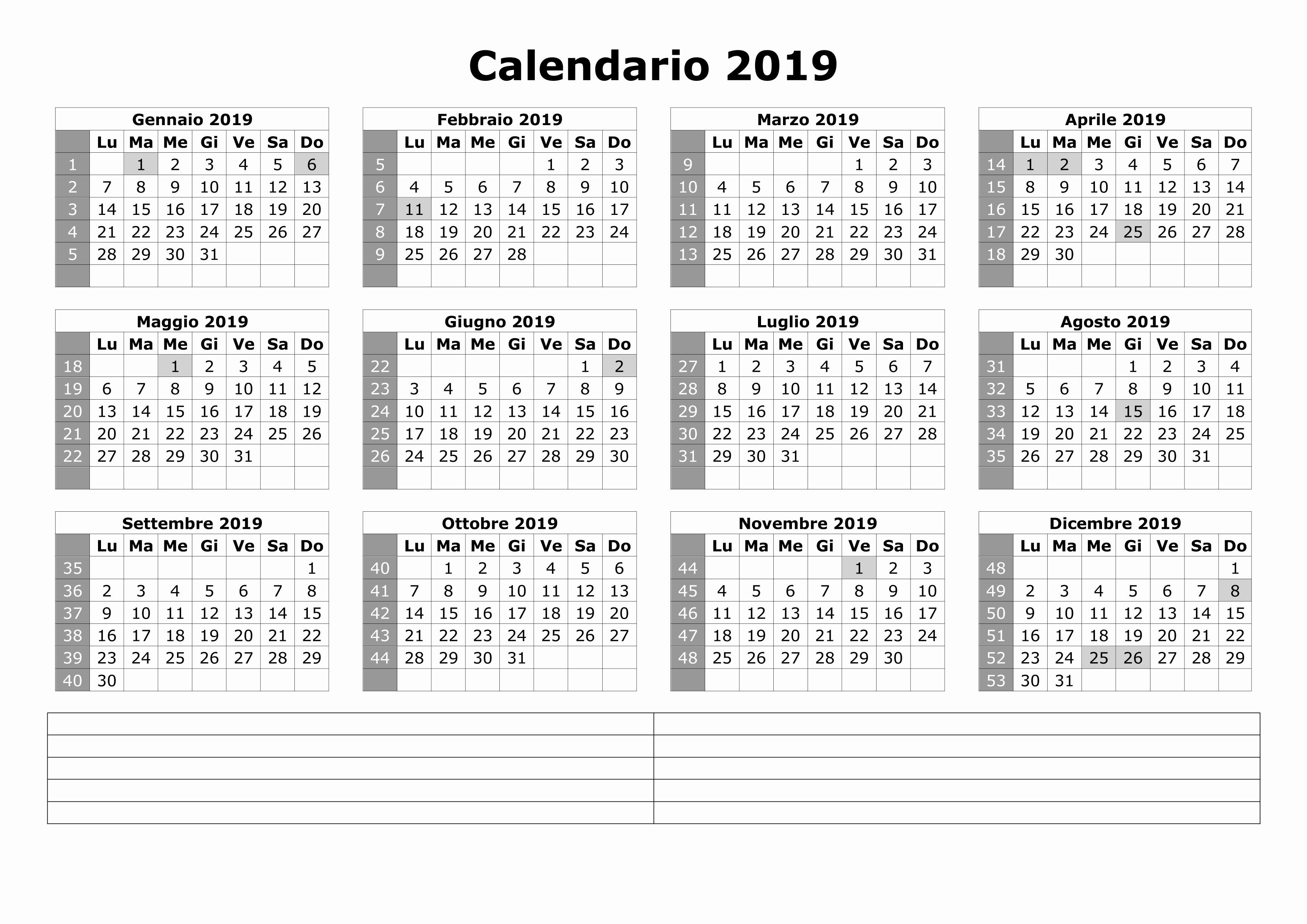 AVANCE SALIDAS CALENDARIO 2019