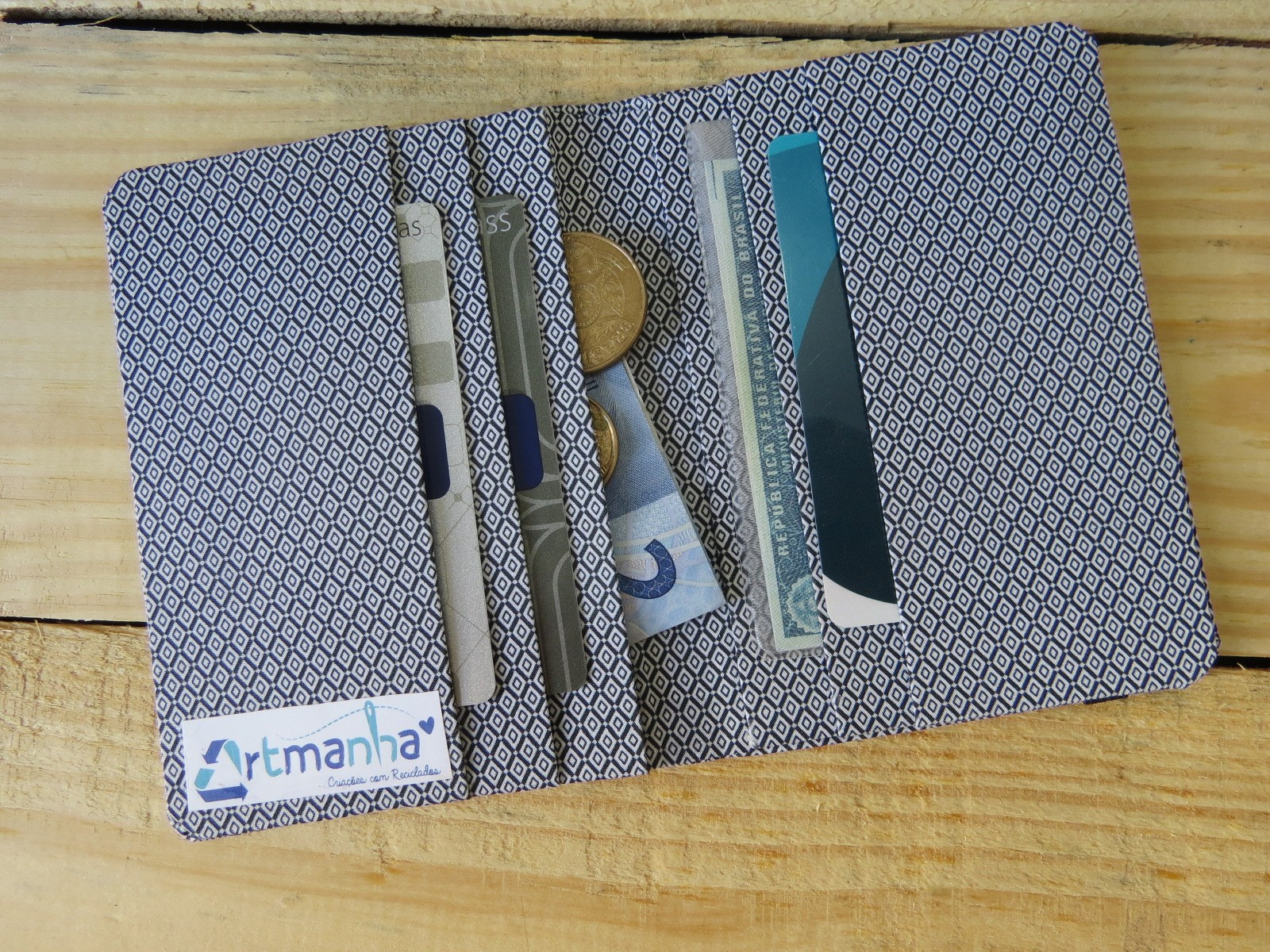 carteira unis dots reciclado