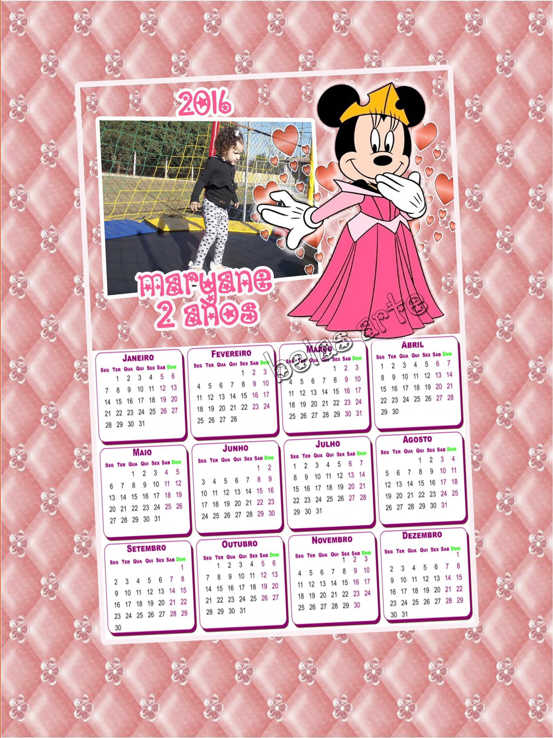 Calendário para contagem regressiva para viagem calendario2