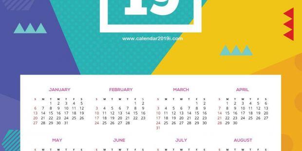 Calendario 2019 Com todos Os Feriados Más Caliente Printable 2019 Hd Wall Calendar