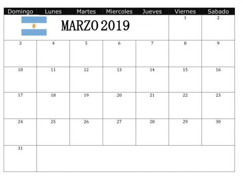 Calendario 2019 Completo Com Feriados Más Recientemente Liberado Calendario Marzo 2019 Argentina