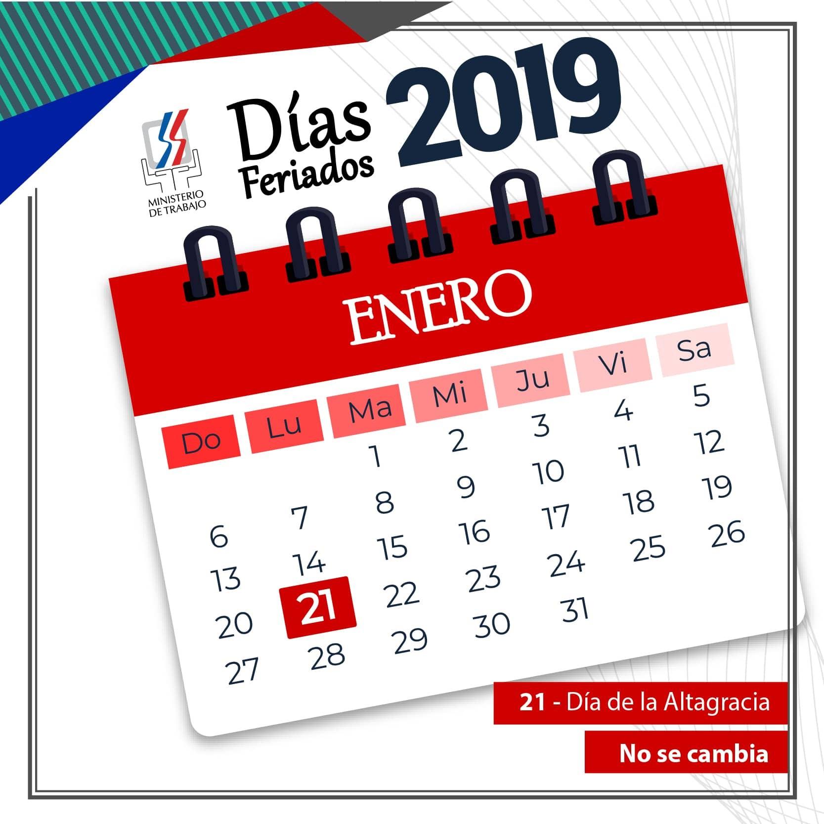 "Ministerio de Trabajo reitera feriado Da de la Altagracia ""no se cambia"""