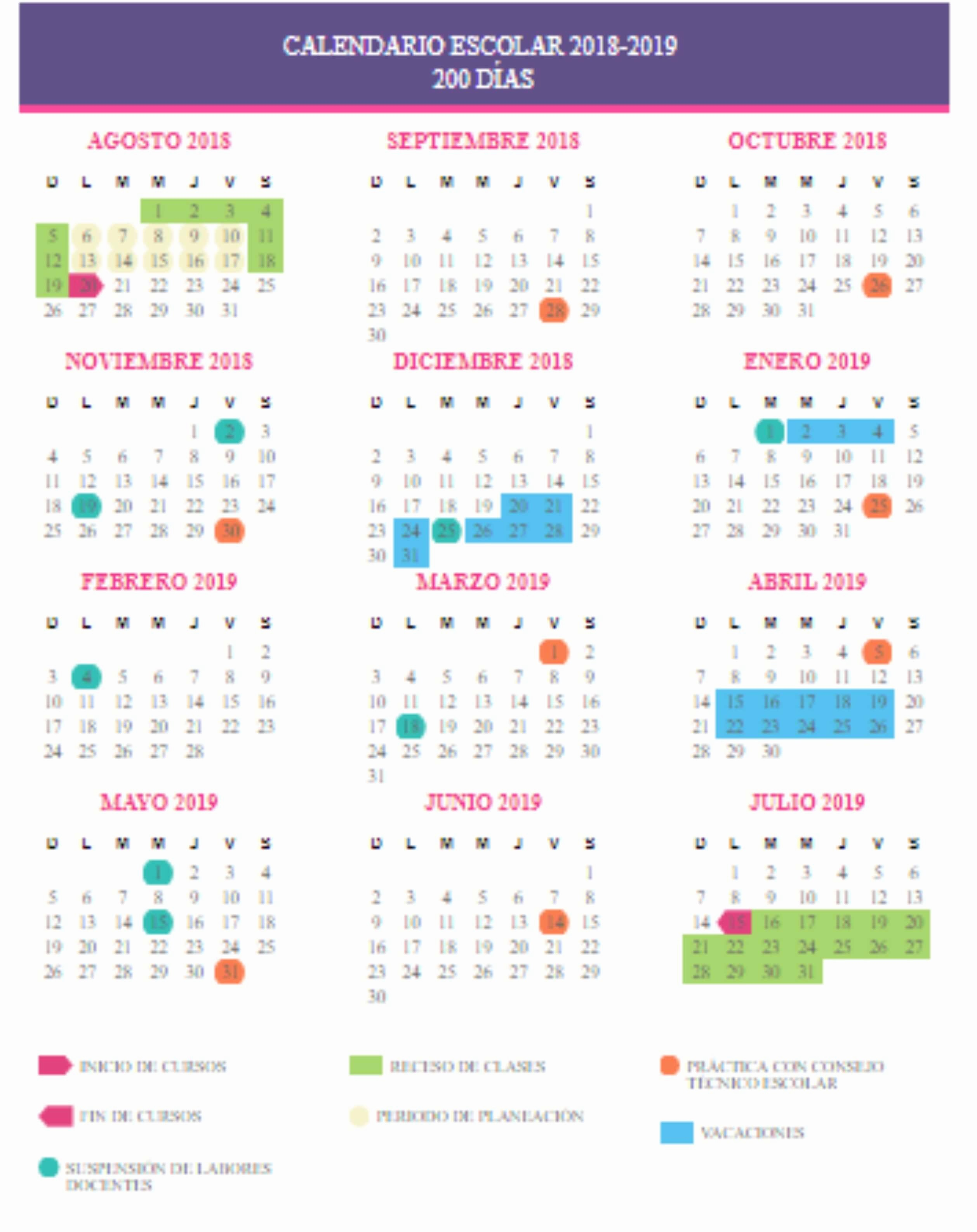 Calendario Meccanocar 2019 Sep Da A Conocer Calendario Escolar Del Ciclo 2018 2019