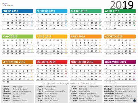 Calendario 2019 Con Festivos Enero Más Actual Calendario 2019 Makoke Calendario Ano 2019