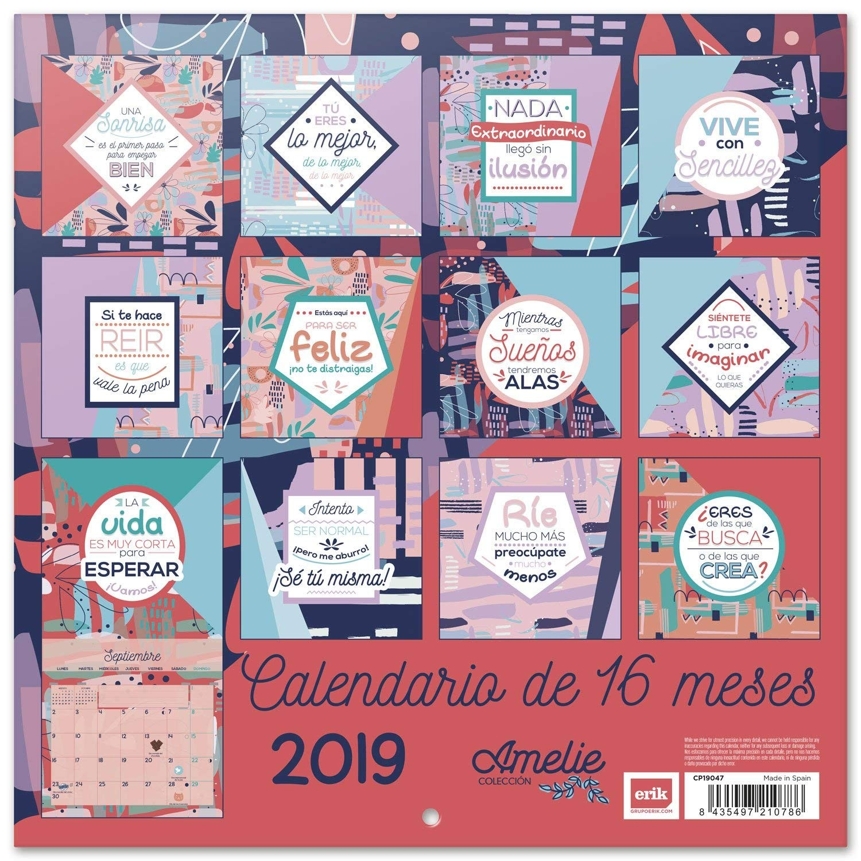 Grupo Erik Editores Amelie Calendario 2019 30 x 30 cm Amazon icina y papelera