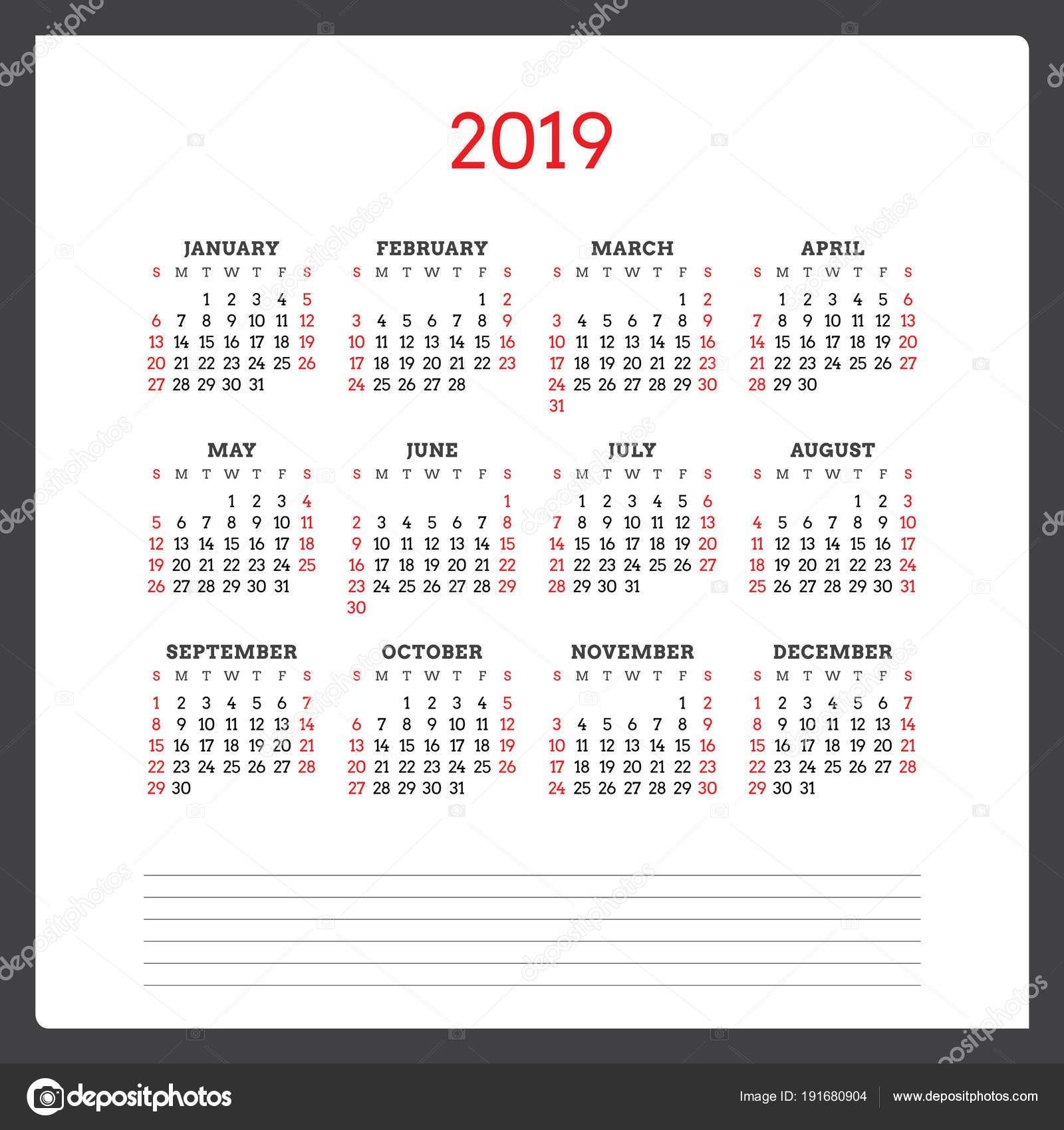 """Kalendá…â""""¢ na rok 2019 T½den za"""" ná v ned""""›li … ablona návrhu …"""