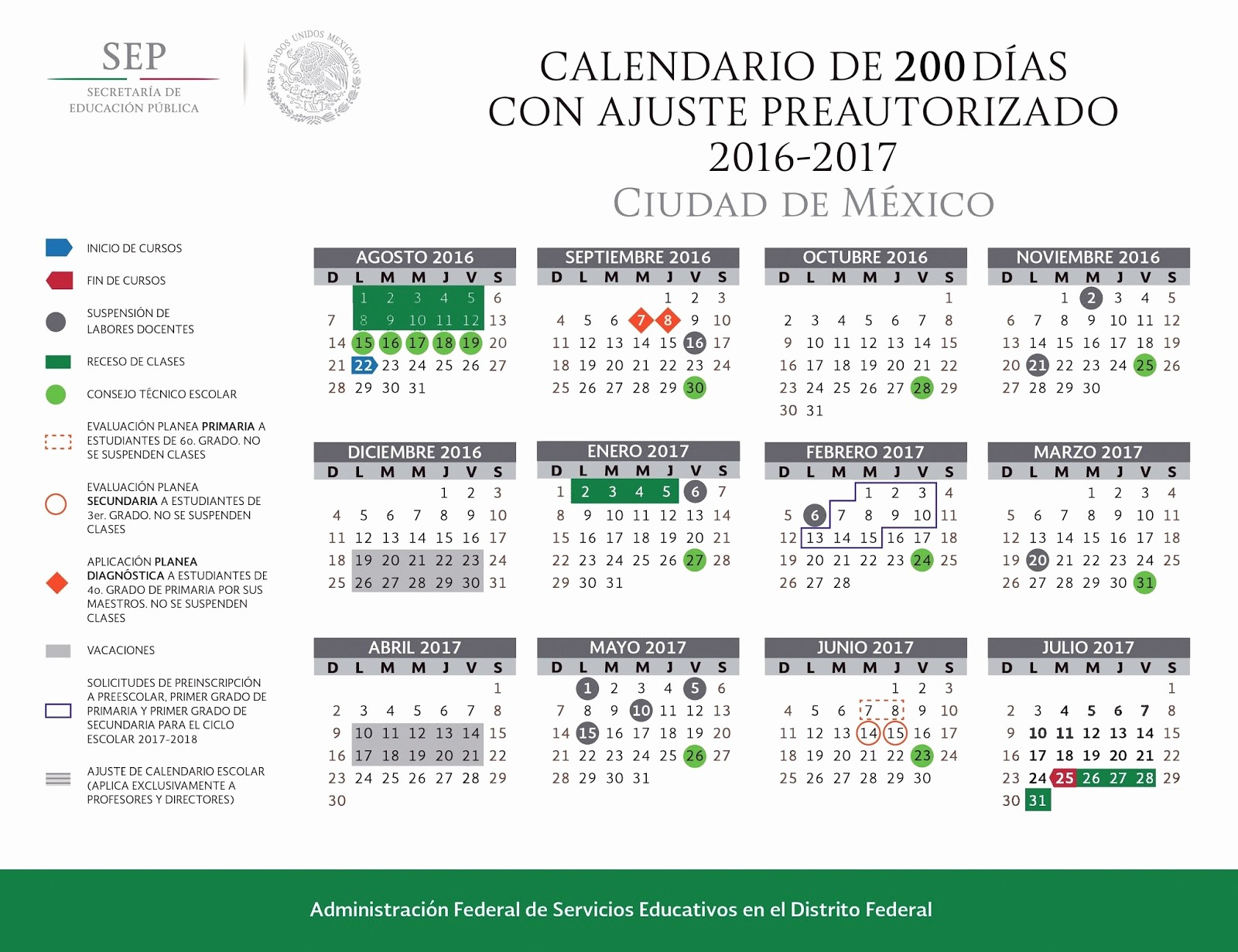 Calendari 2019 20 Jn Mazahua Calendario Escolar 2016 2017