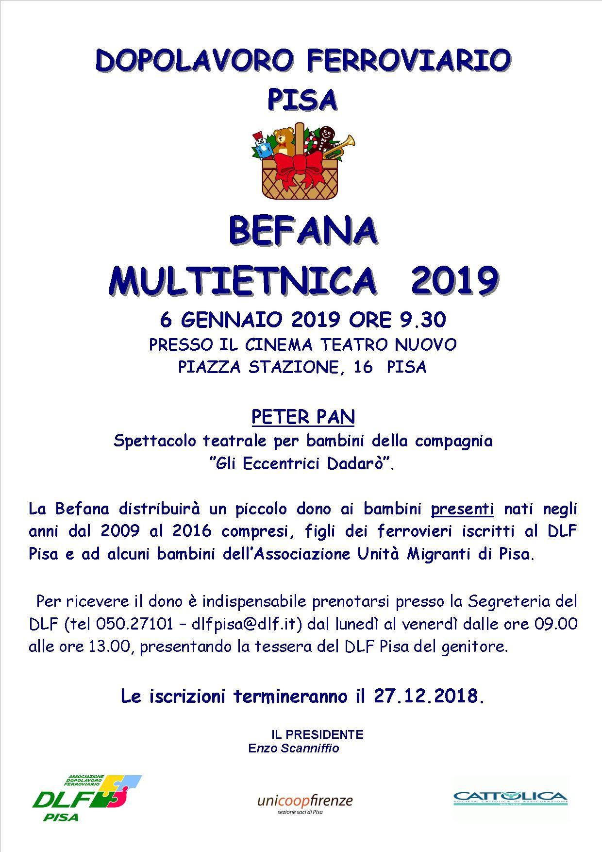 BEFANA MULTIETNICA ANNO 2019