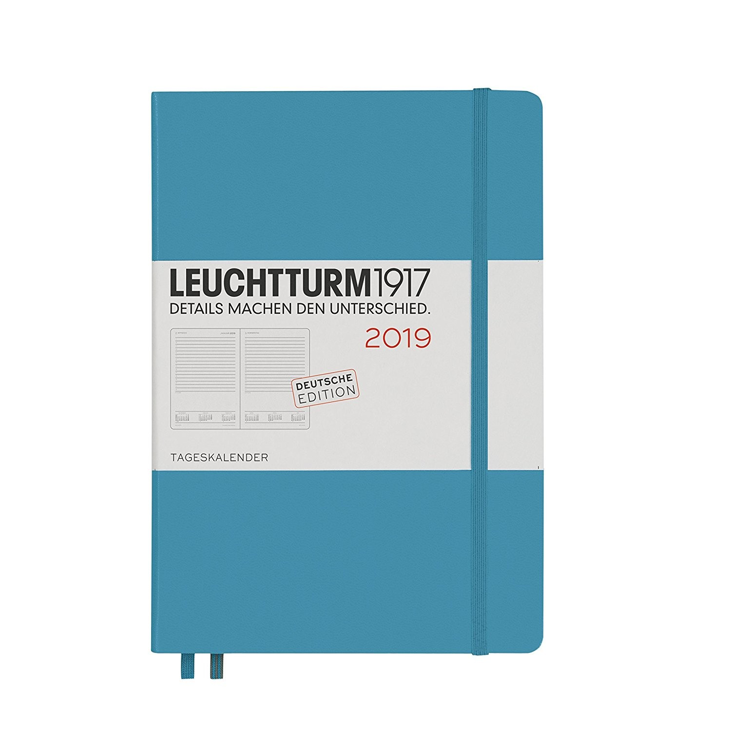 Leuchtturm1917 D­a Calendario 2019 Alemán Medium A5
