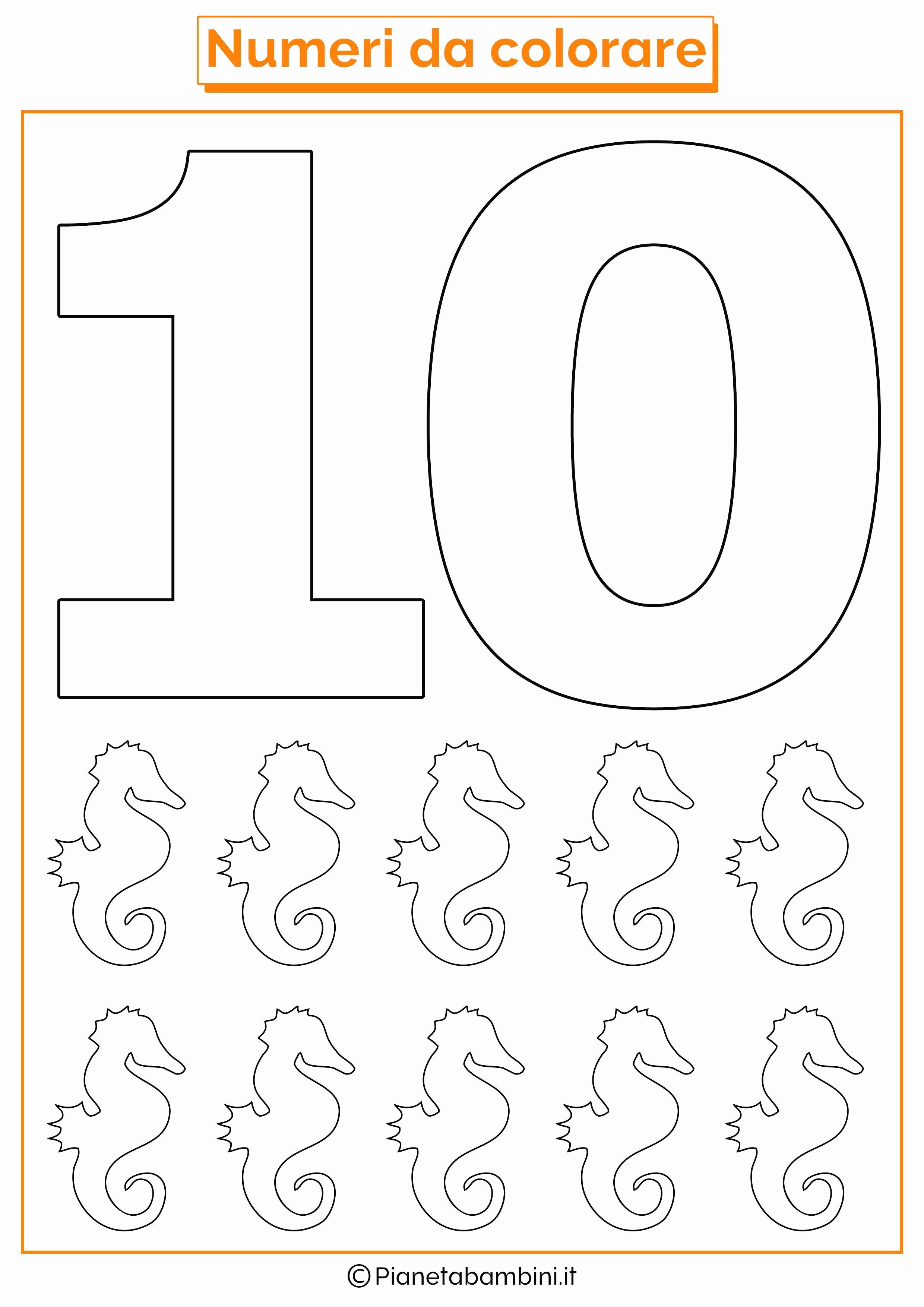 Da Stampare E Colorare Nuovo Numeri Da Stampare Colorare E Ritagliare Per Bambini Con Numero 0 Da