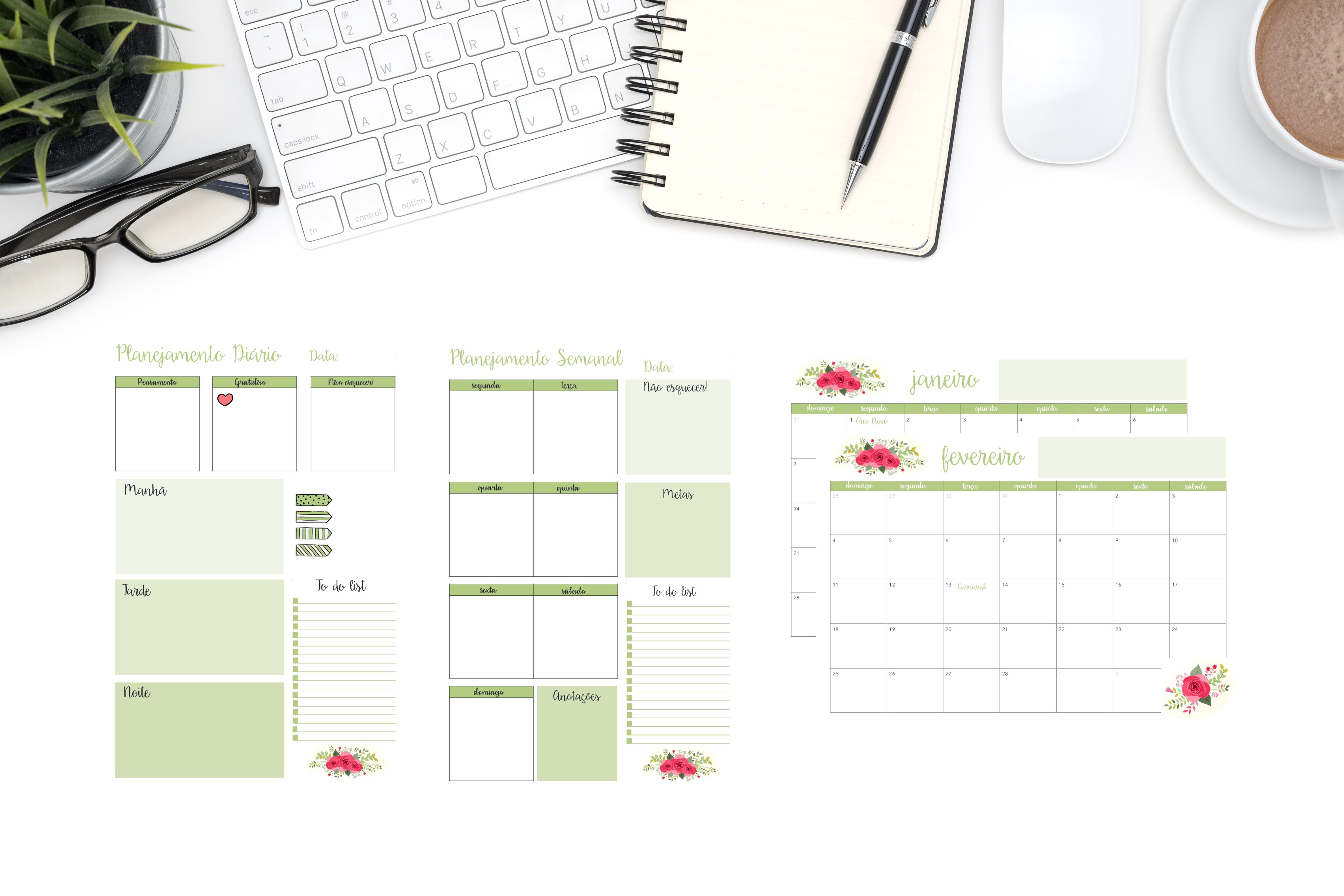 Atualizado Planner 2019 Calendário Cactos Pdf Feriados Nacionais datas emorativas organiza§£o