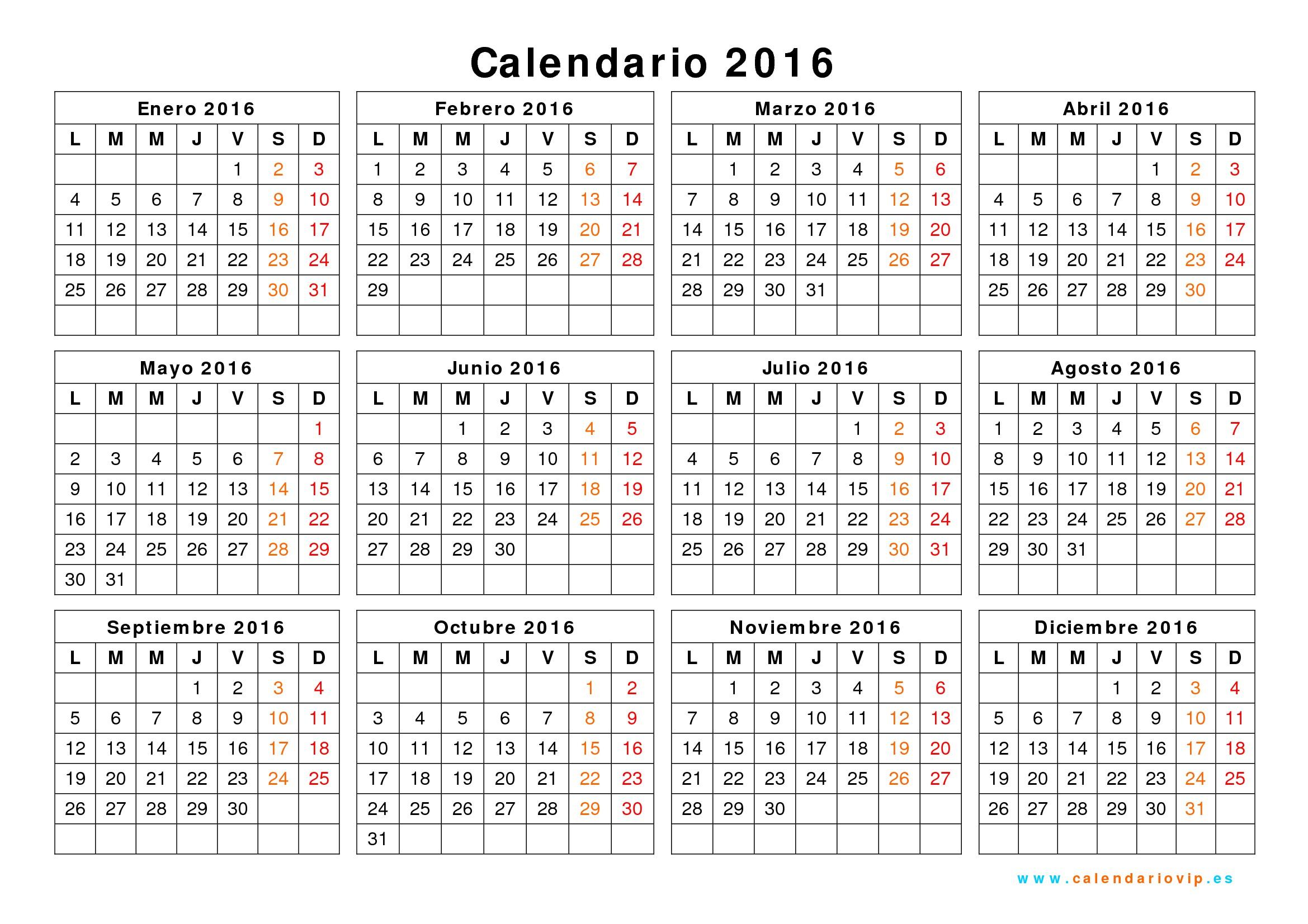 Calendario 2016 Excel calendario mensual 2015 excel calendario