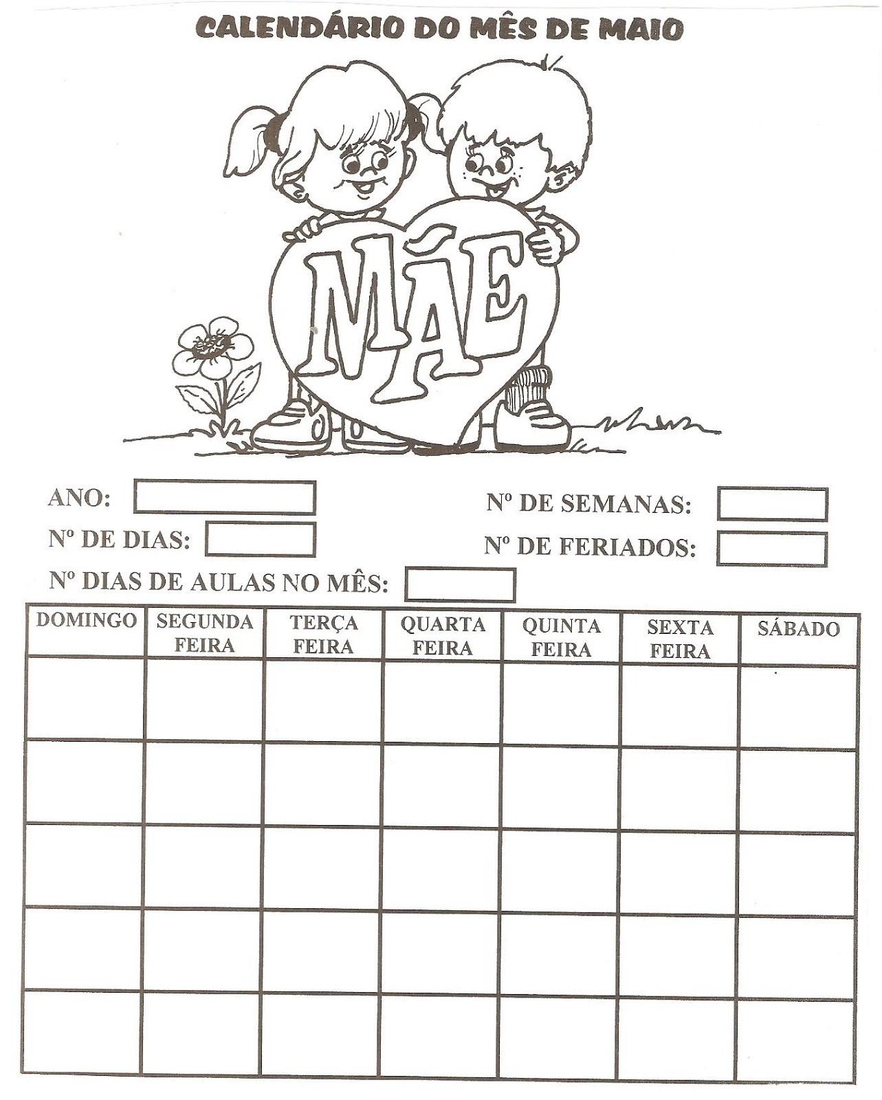 atividades calendrio atividades pedag³gicas