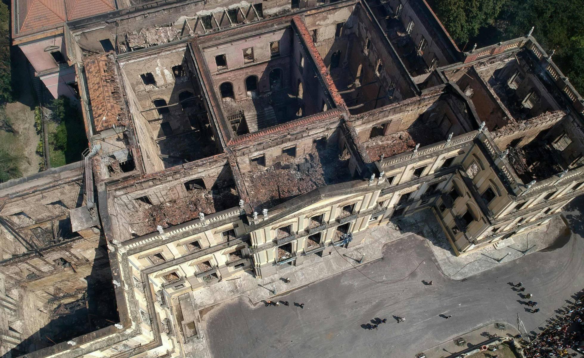 Un incendio consume el Museo Nacional de Ro uno de los más antiguos de Brasil Internacional