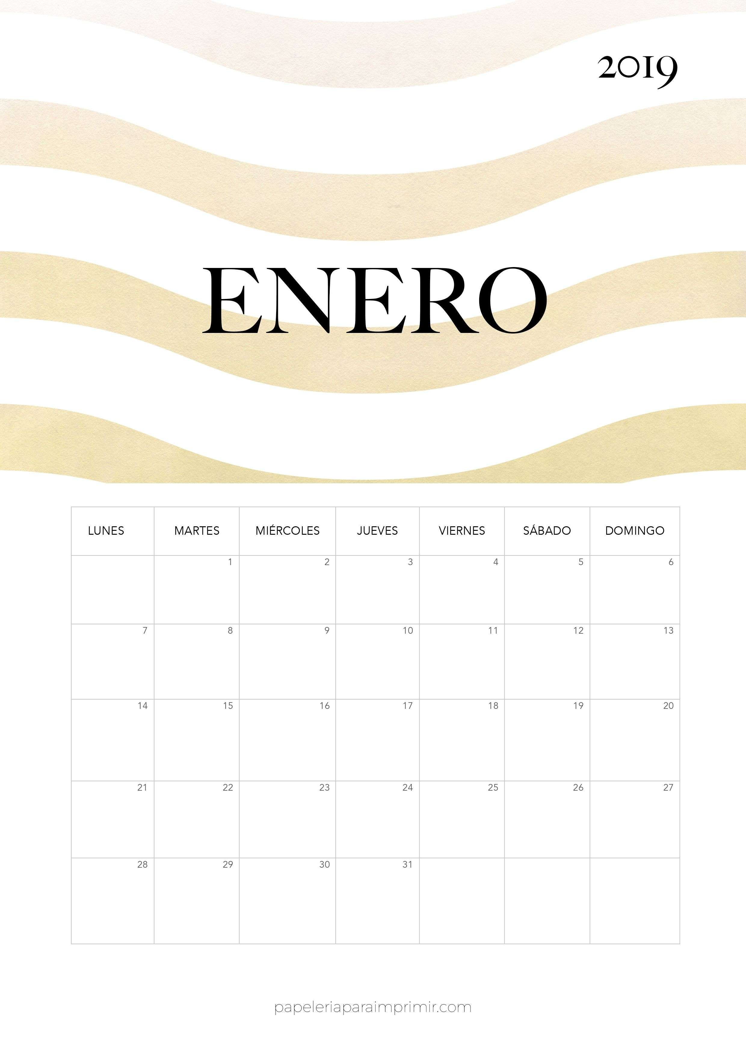 Calendario 2019 Escolar Df Más Arriba-a-fecha Calendario 2019 Enero Calendario Mensual De Estilo Minimal Moderno